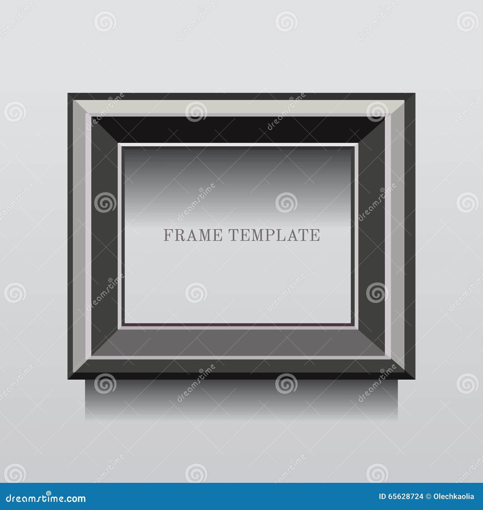 Cadre classique gris de rectangle en métal