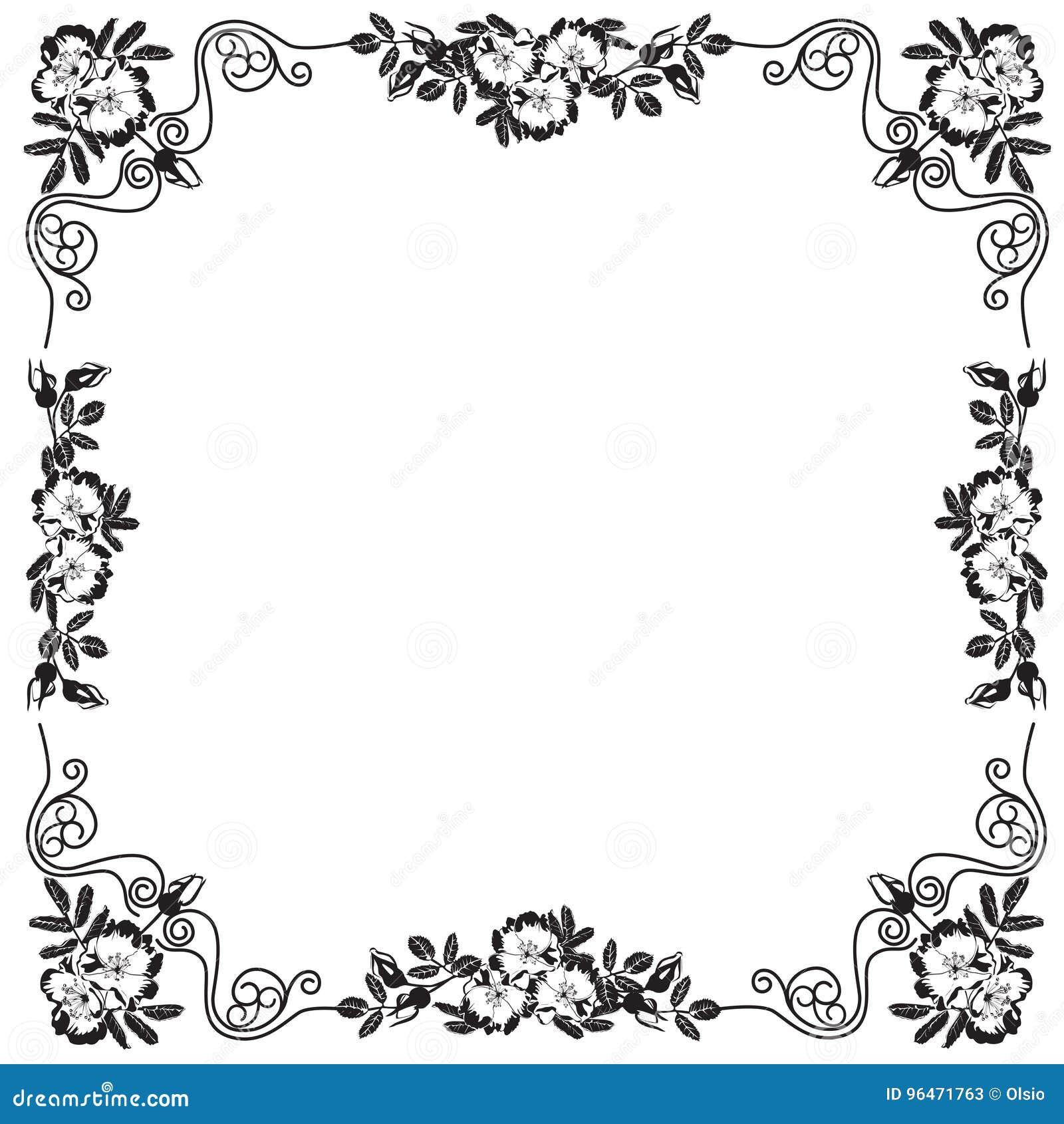 cadre décoratif, cadre pour le texte dans le vect noir et blanc