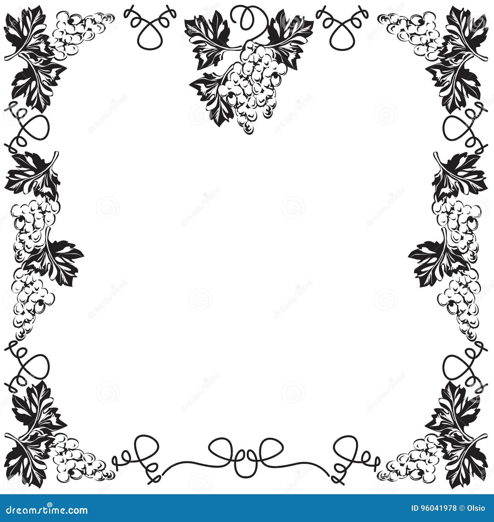 cadre décoratif, cadre pour le texte noir et blanc illustration de