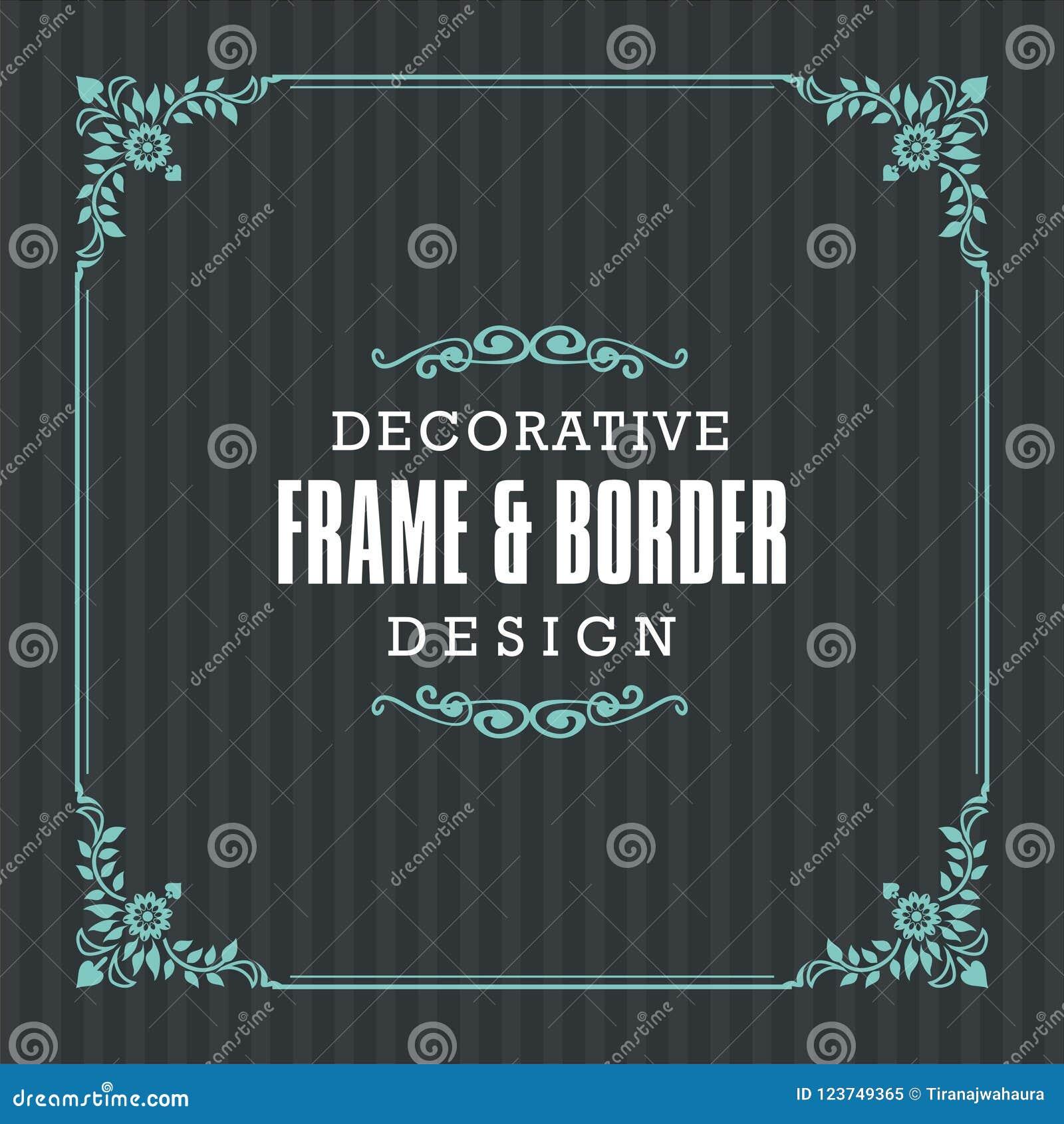 Cadre décoratif, frontière avec la ligne style ornementale