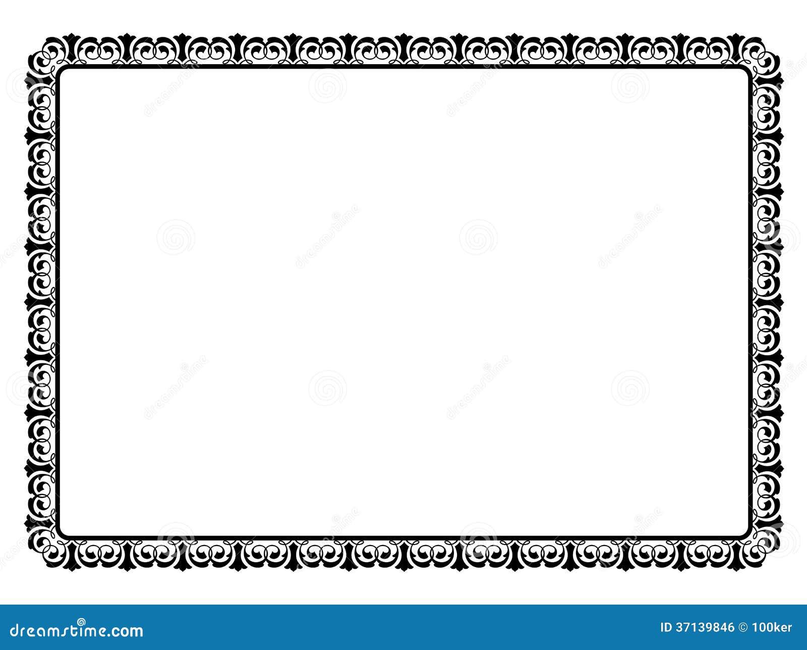 cadre d coratif ornemental noir simple image libre de droits image 37139846. Black Bedroom Furniture Sets. Home Design Ideas