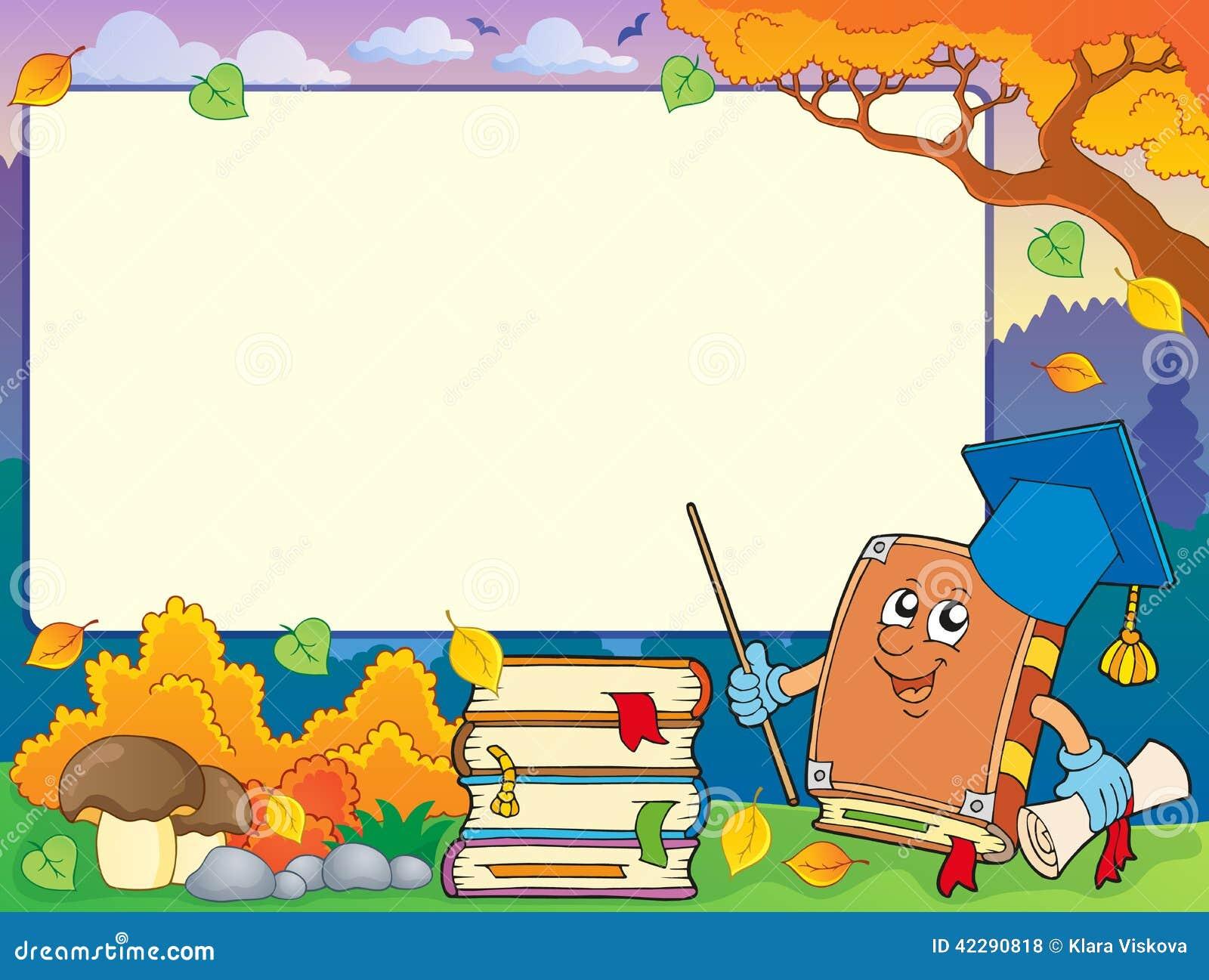 cadre d 39 automne avec le professeur 1 de livre illustration de vecteur image 42290818. Black Bedroom Furniture Sets. Home Design Ideas