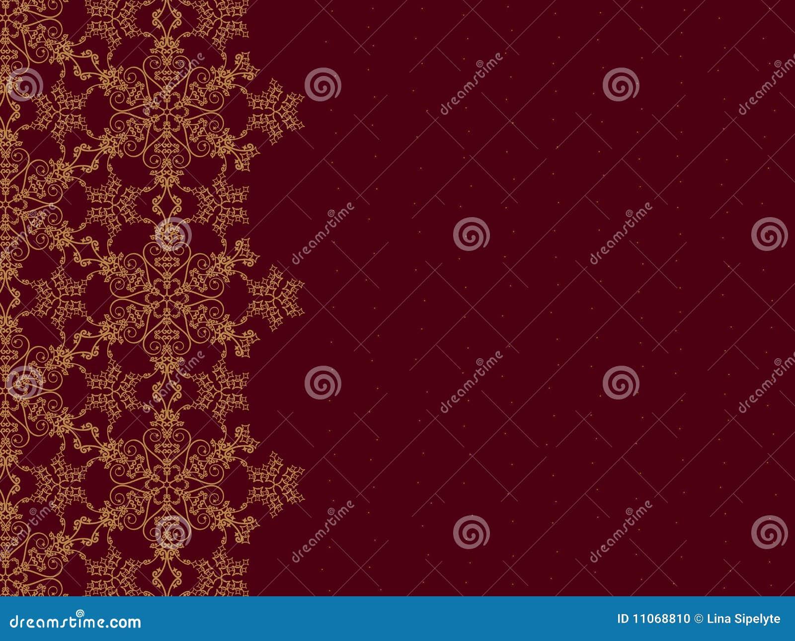 Cadre d or de flocon de neige