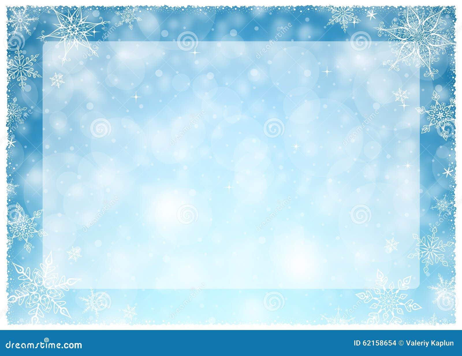 cadre d 39 hiver de no l illustration bleu blanc de no l paysage vide de cadre illustration de. Black Bedroom Furniture Sets. Home Design Ideas