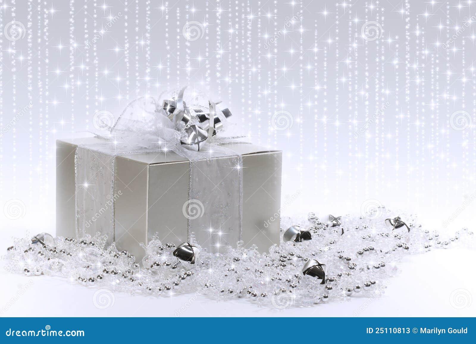 Cadre de cadeau argenté