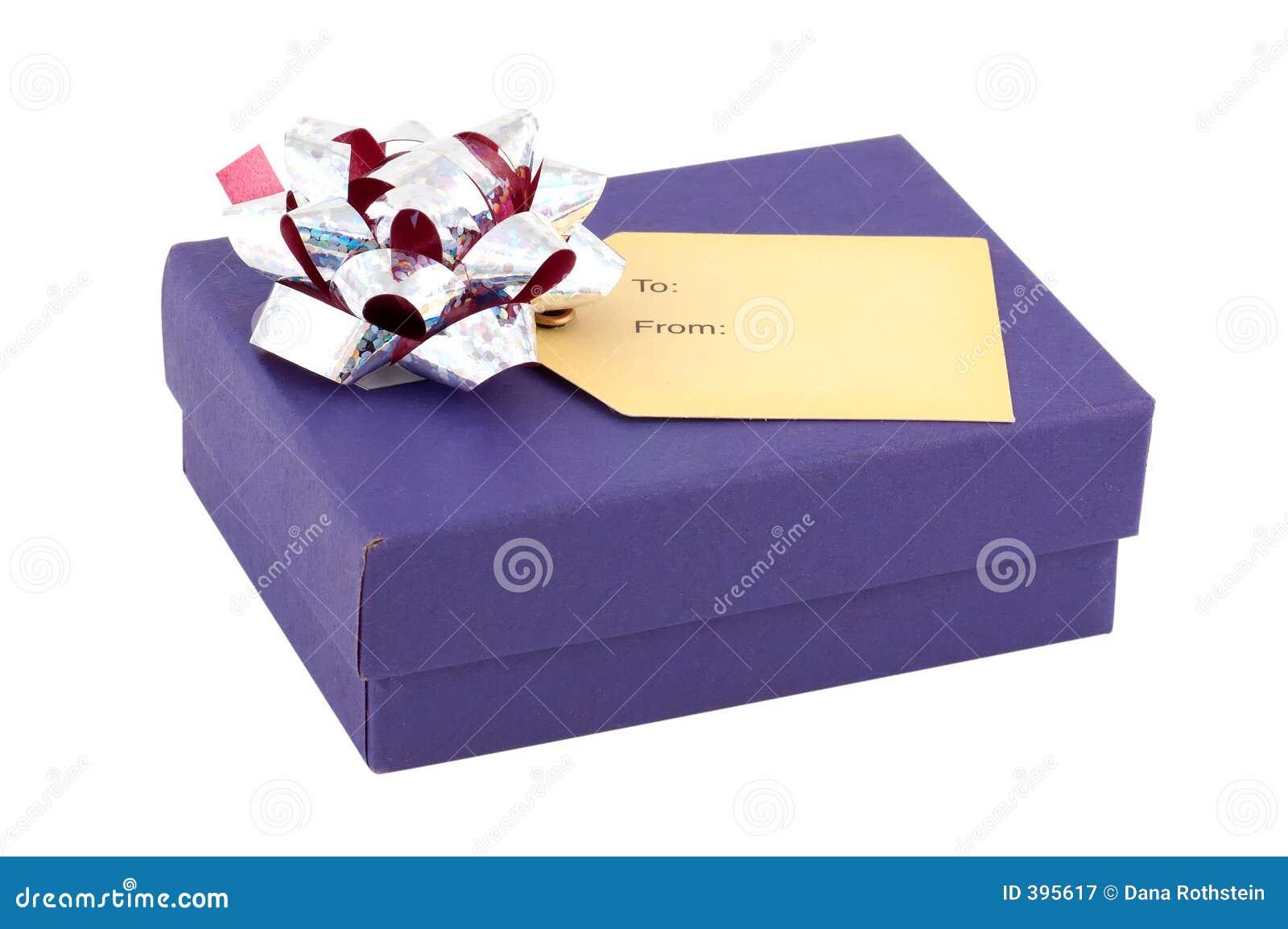 Cadre de cadeau bleu