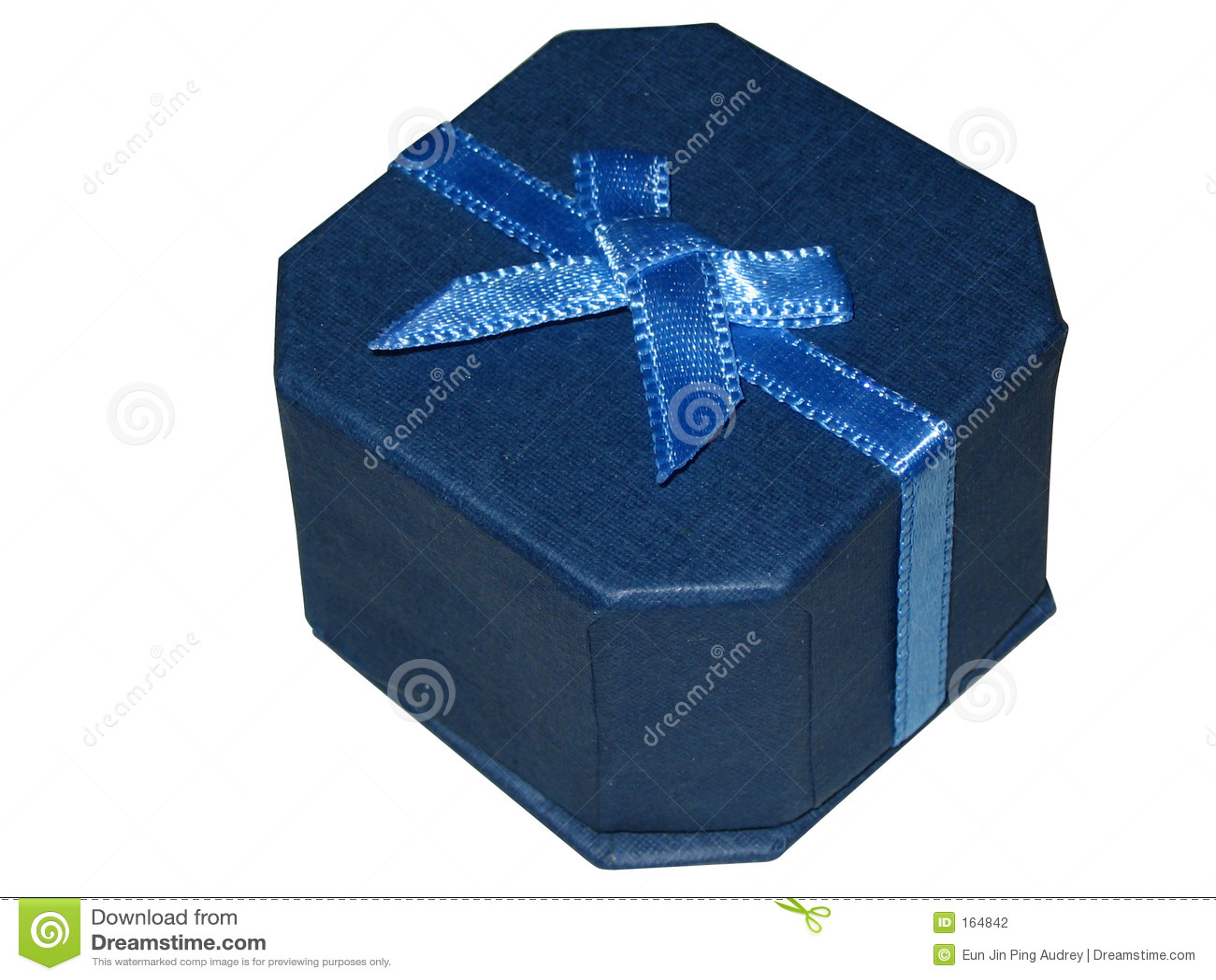 Cadre de cadeau bleu de bijou