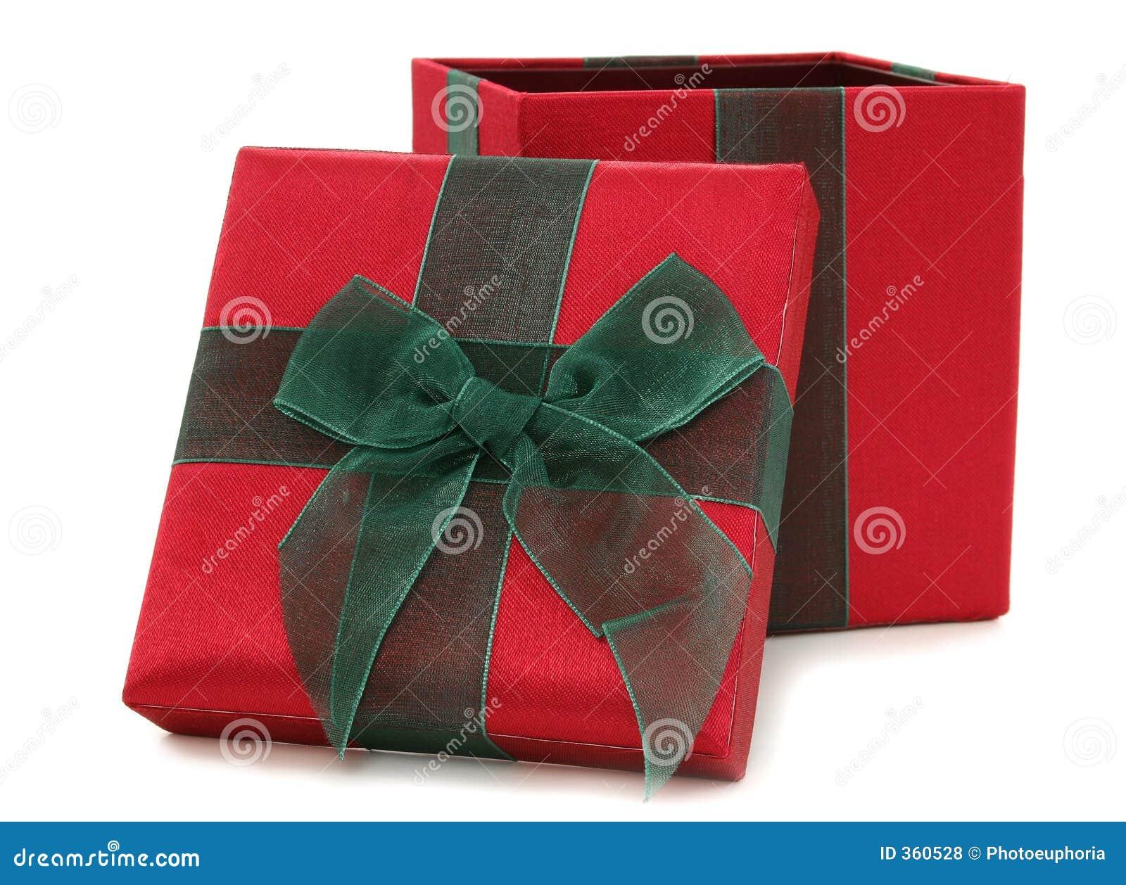 Cadre de cadeau rouge et vert de tissu
