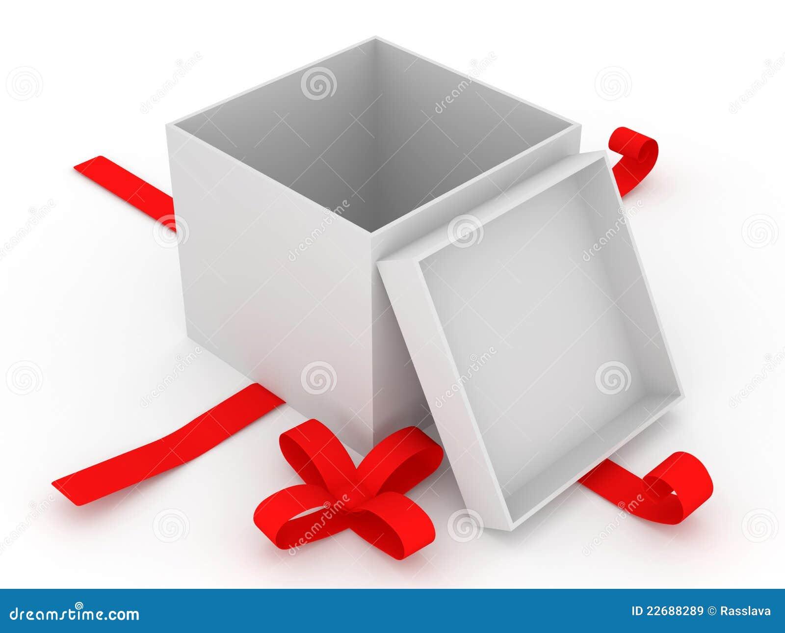 Cadre de cadeau vide sur le fond blanc images libres de - Boite coffret cadeau vide ...