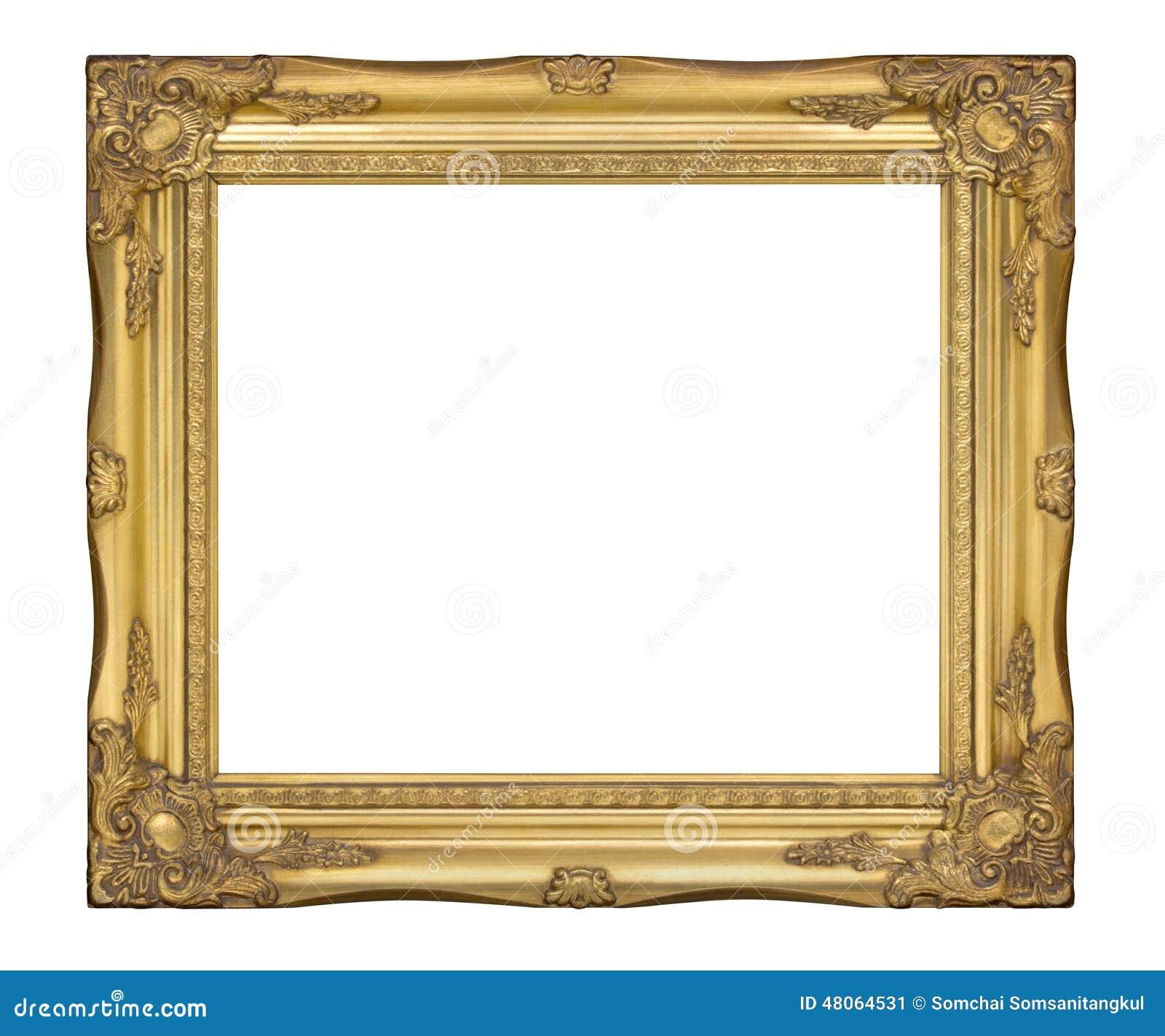 Cadre de classique de vieil or l 39 antiquit cadre de - Image de cadre de tableau ...