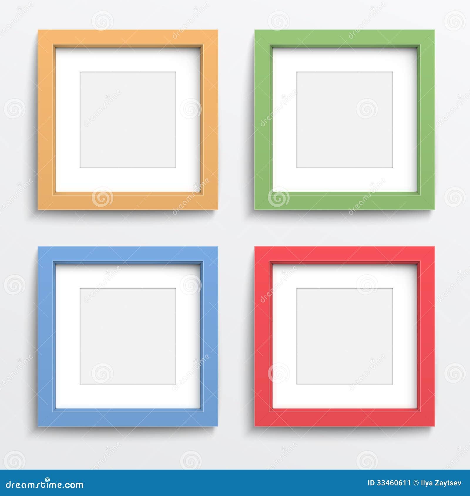 cadre de couleur r gl sur le mur gris image stock image 33460611. Black Bedroom Furniture Sets. Home Design Ideas