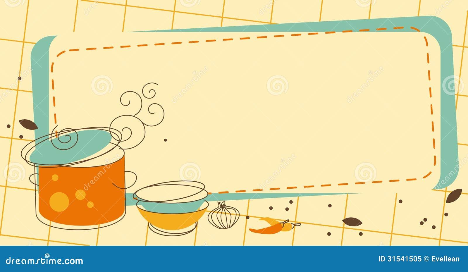 Cadre de cuisine photo libre de droits image 31541505 - Cadre photo cuisine ...