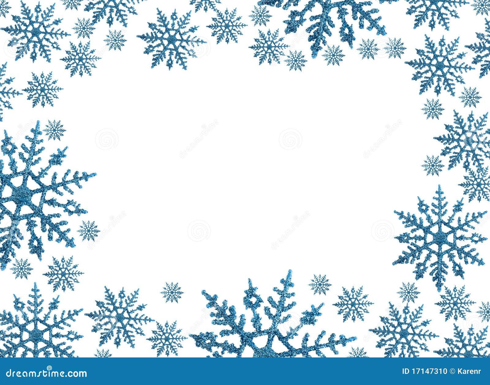 Cadre de flocon de neige