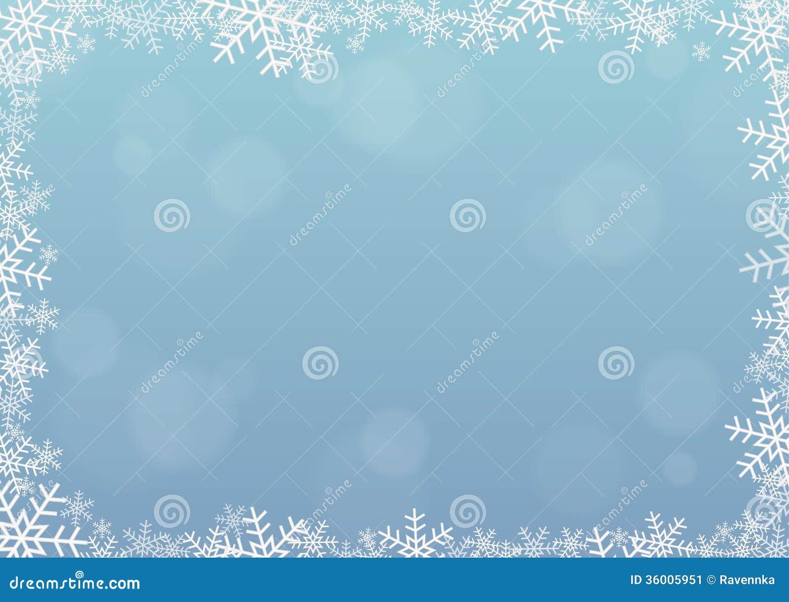 cadre de flocon de neige image stock image 36005951