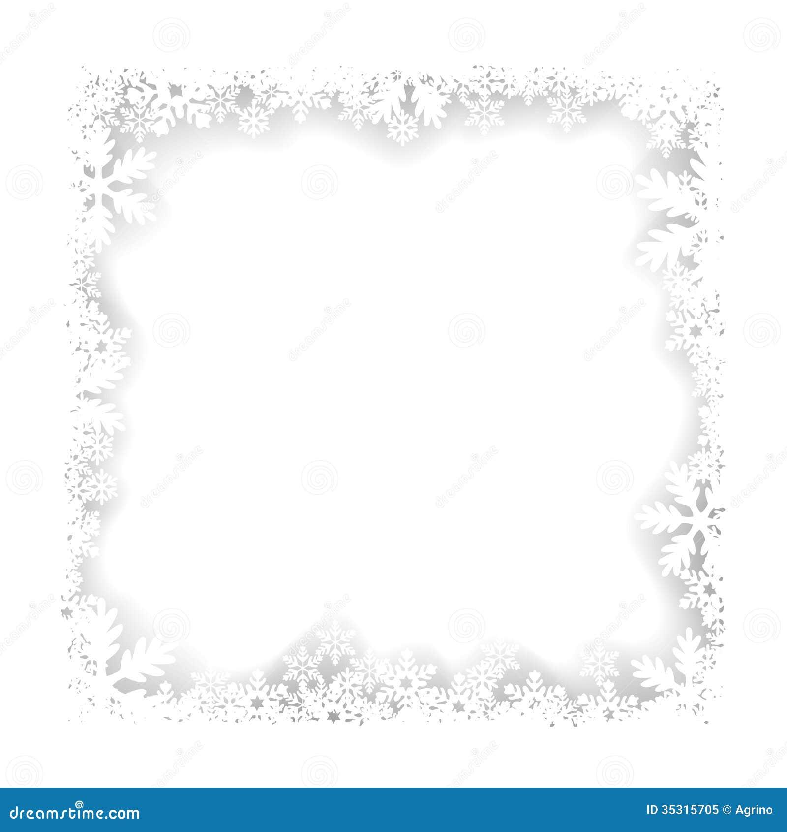 cadre de flocons de neige de no 235 l illustration de vecteur image 35315705