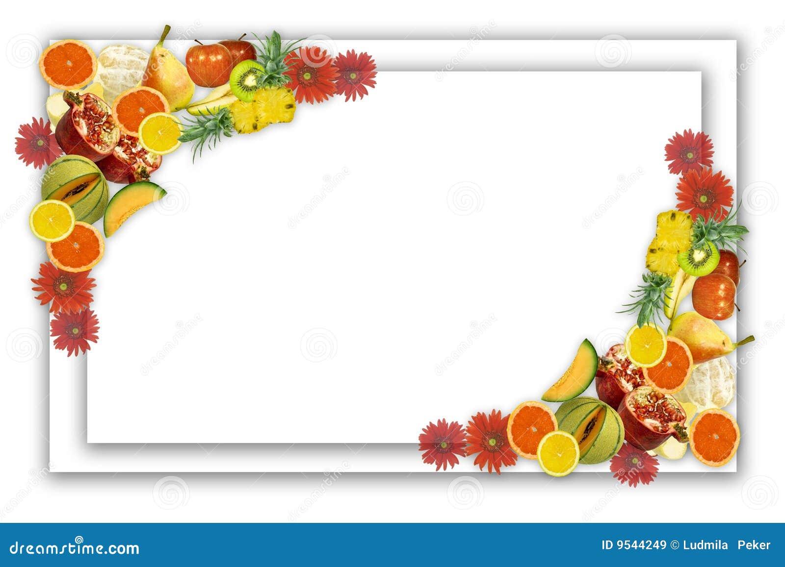 Рамки для поздравлений фрукты