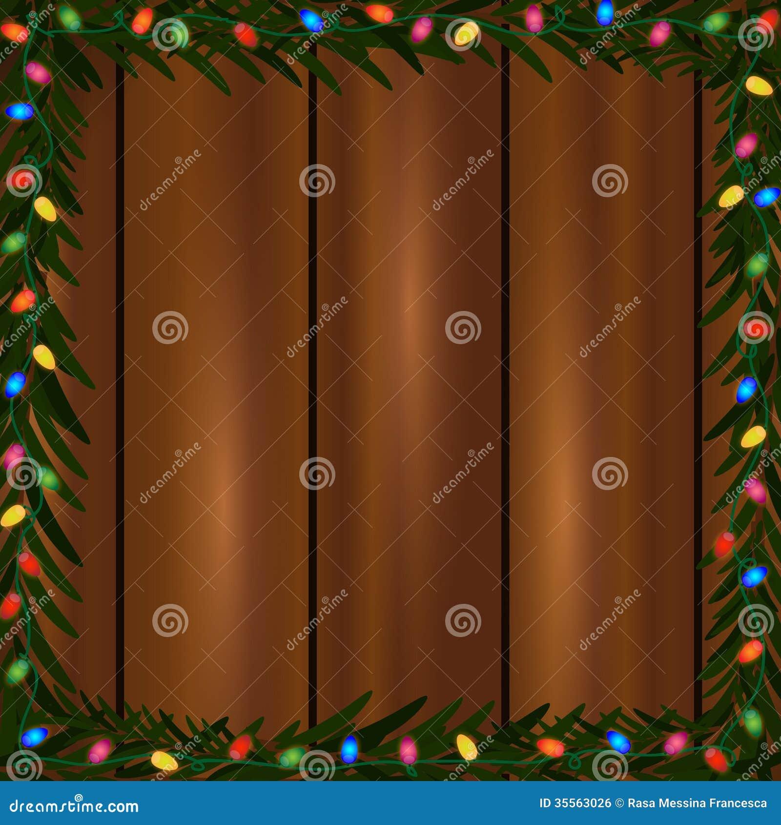 Cadre de lumières de Noël