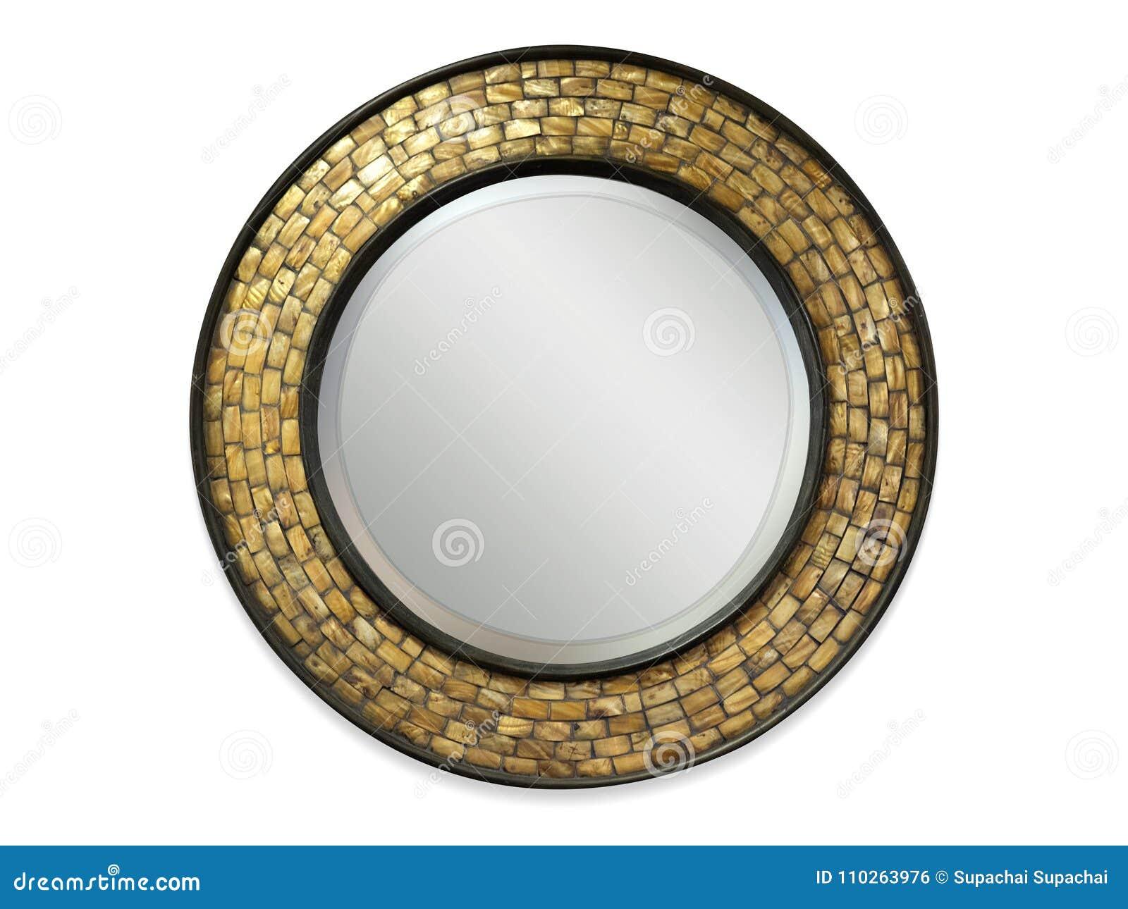 Cadre de miroir d isolement dans le fond