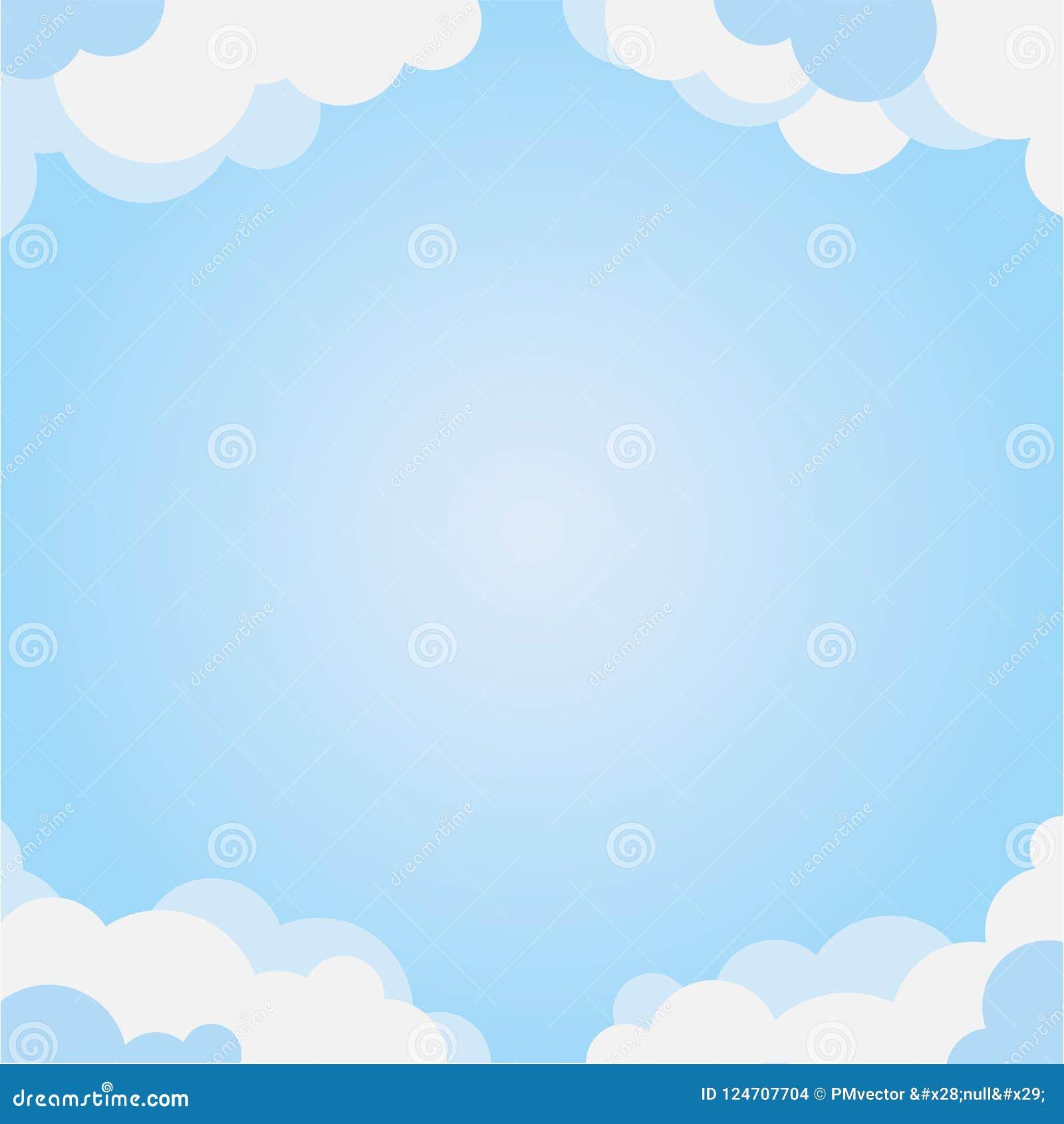 Cadre de nuage avec le ciel bleu