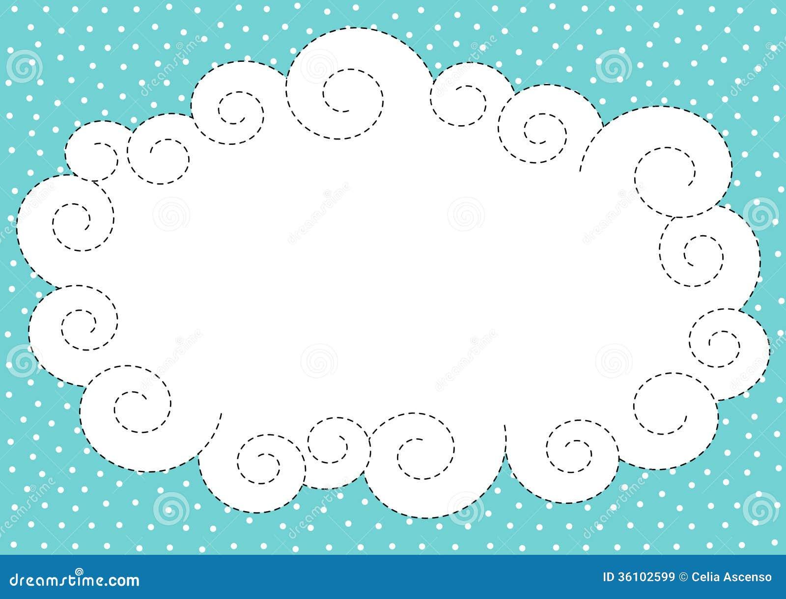 Cadre de nuage et de frontière de neige
