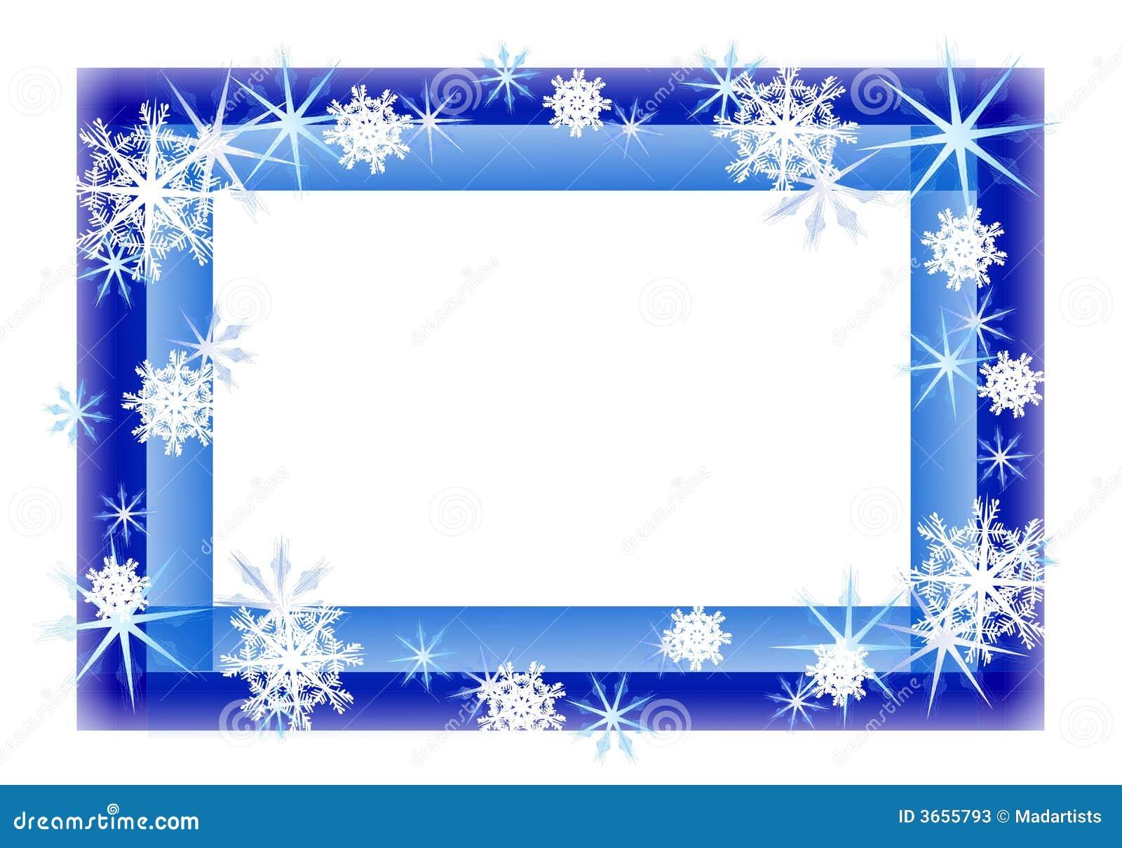 cadre de p tillement bleu de flocon de neige illustration stock image 3655793. Black Bedroom Furniture Sets. Home Design Ideas