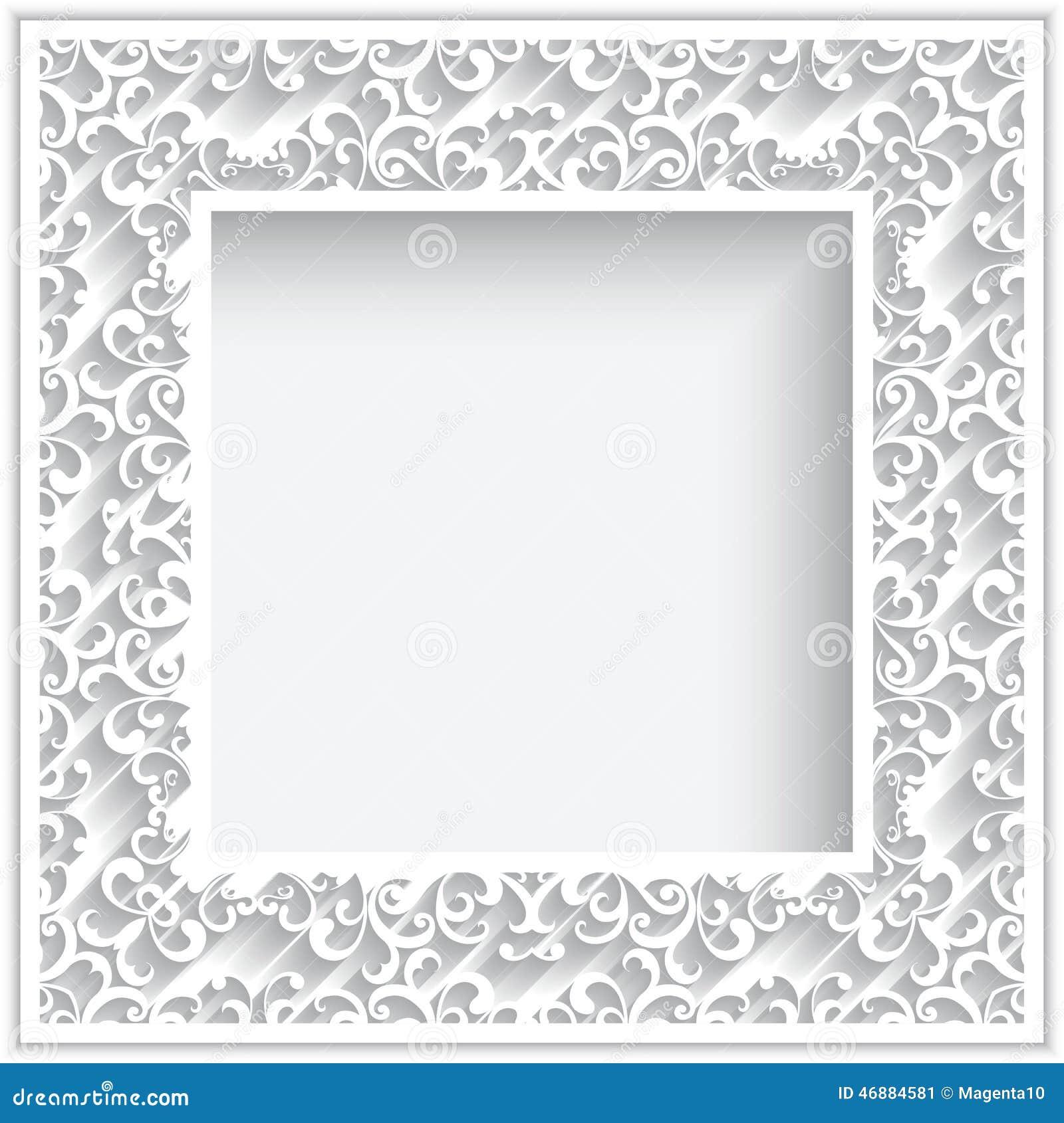 Cadre de papier carré