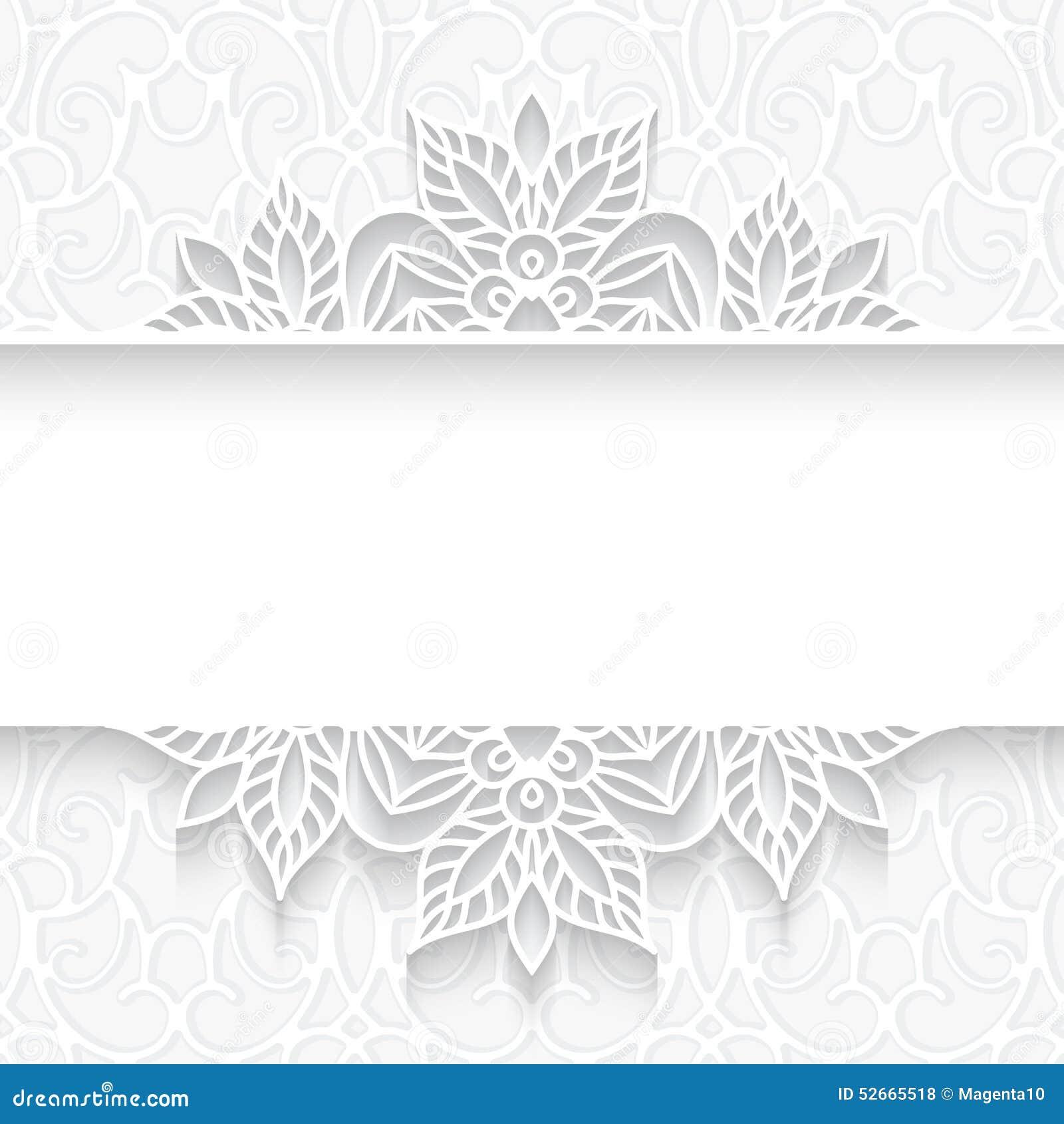 Cadre de papier de diviseur de dentelle