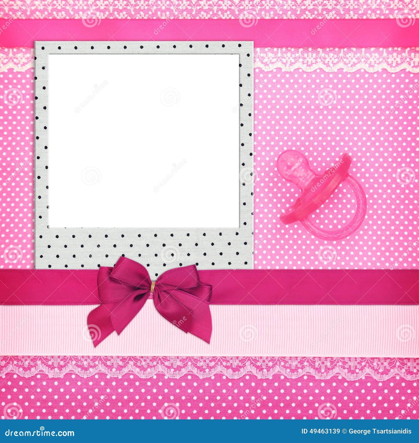 Cadre de photo et tétine rose