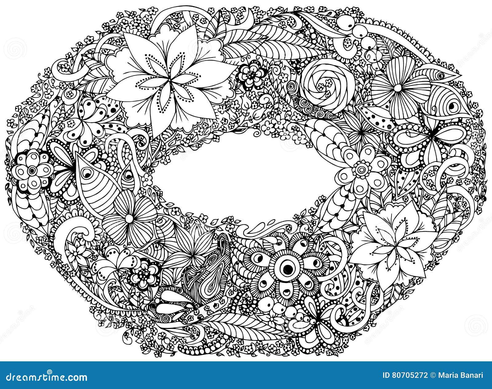 Coloriage Guirlande Fleurs.Cadre De Photo Guirlande Guirlande Couronne Anneau De