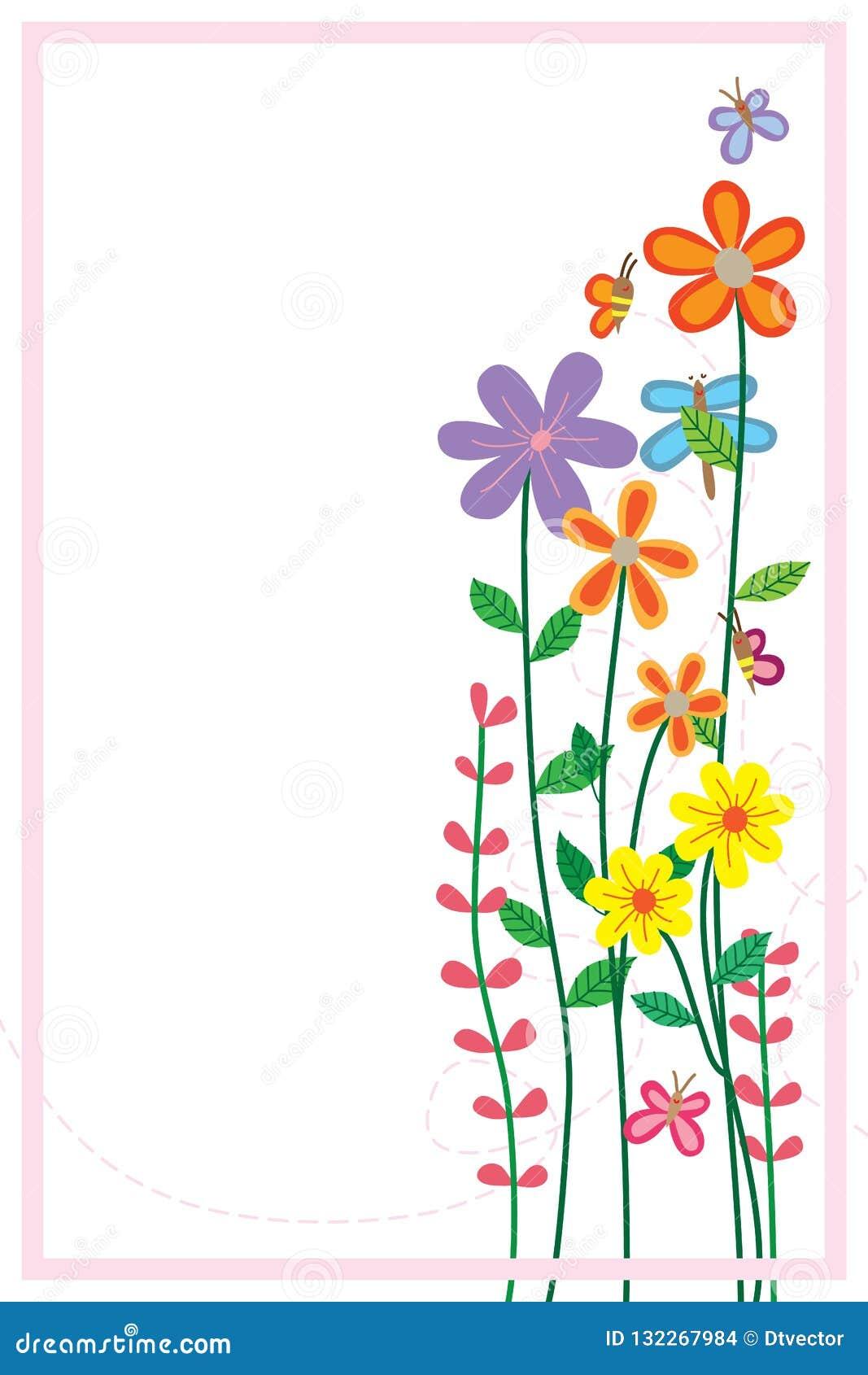 Cadre De Support De Libellule De Papillon D Abeille De Fleur
