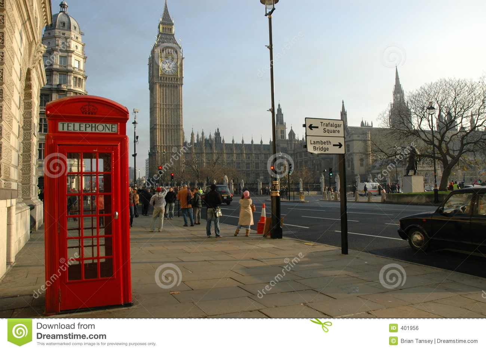 Cadre de téléphone de Londres près de grand Ben