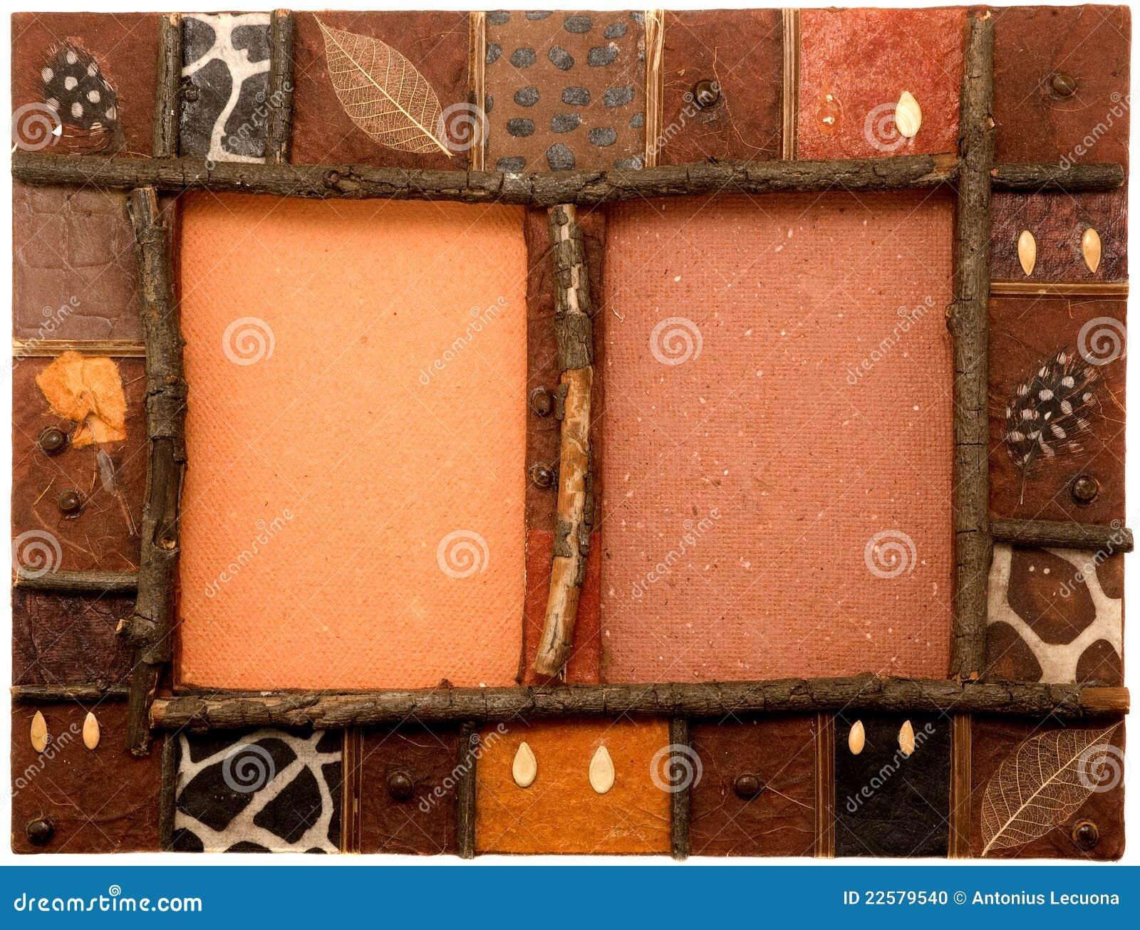 cadre de tableau africain d 39 art photo stock image 22579540. Black Bedroom Furniture Sets. Home Design Ideas
