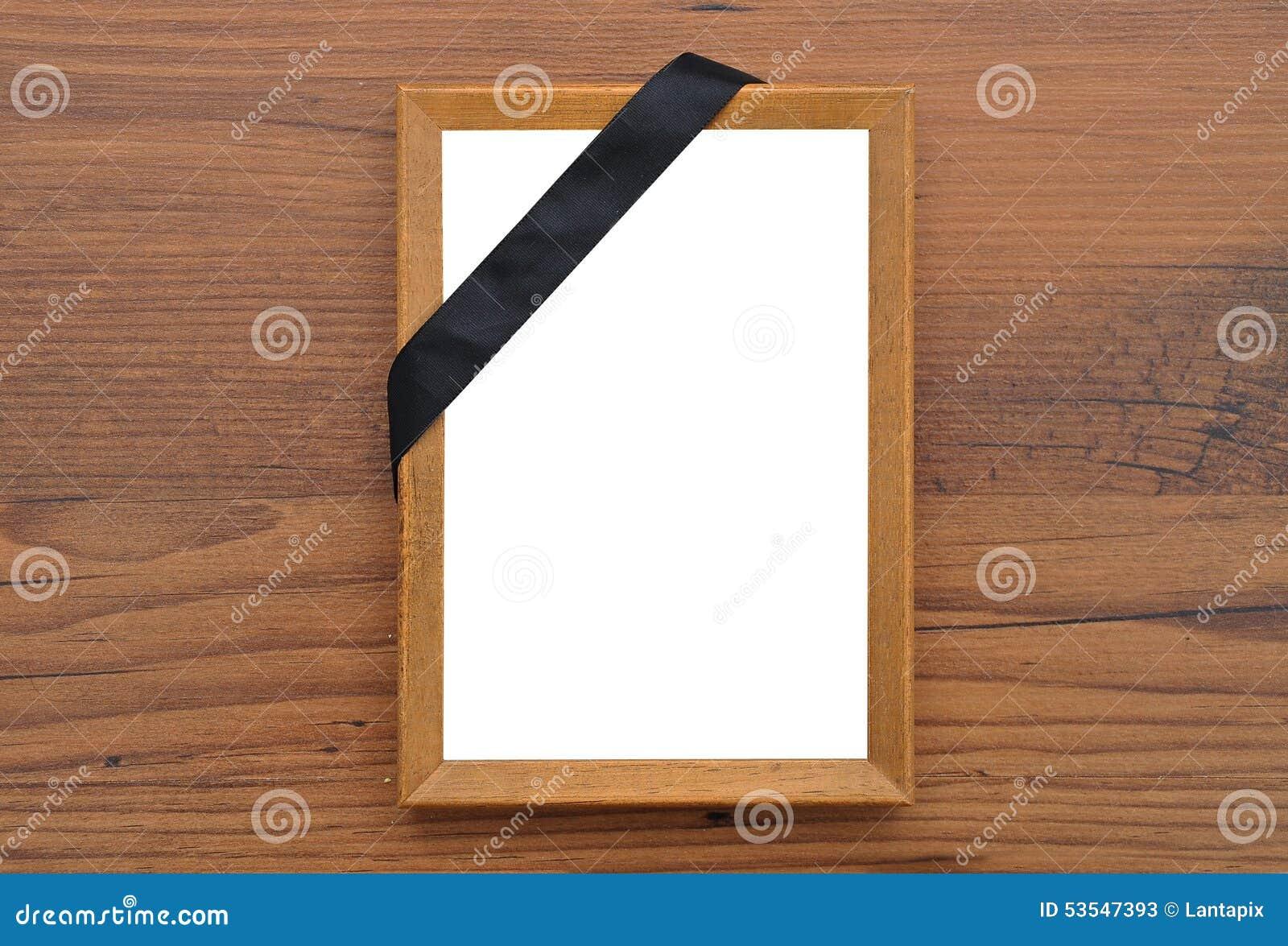 Cadre de tableau avec la bande de deuil photo stock - Image de cadre de tableau ...