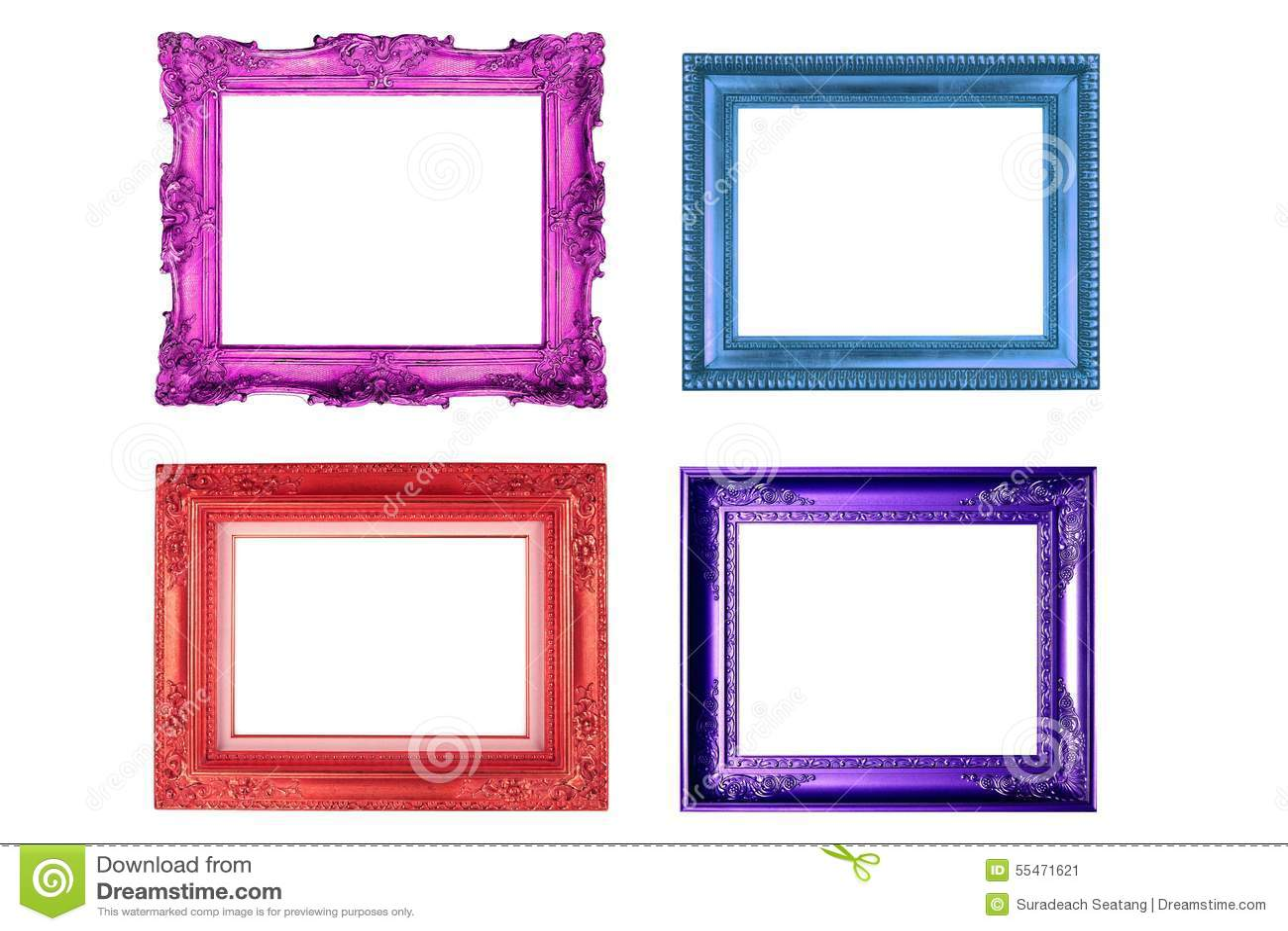 cadre de tableau color image stock image du r tro fond 55471621. Black Bedroom Furniture Sets. Home Design Ideas