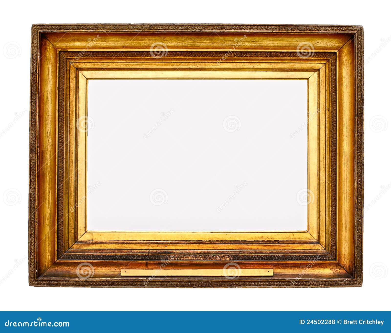 Cadre de tableau d 39 or photo stock image du fond mus e - Image de cadre de tableau ...
