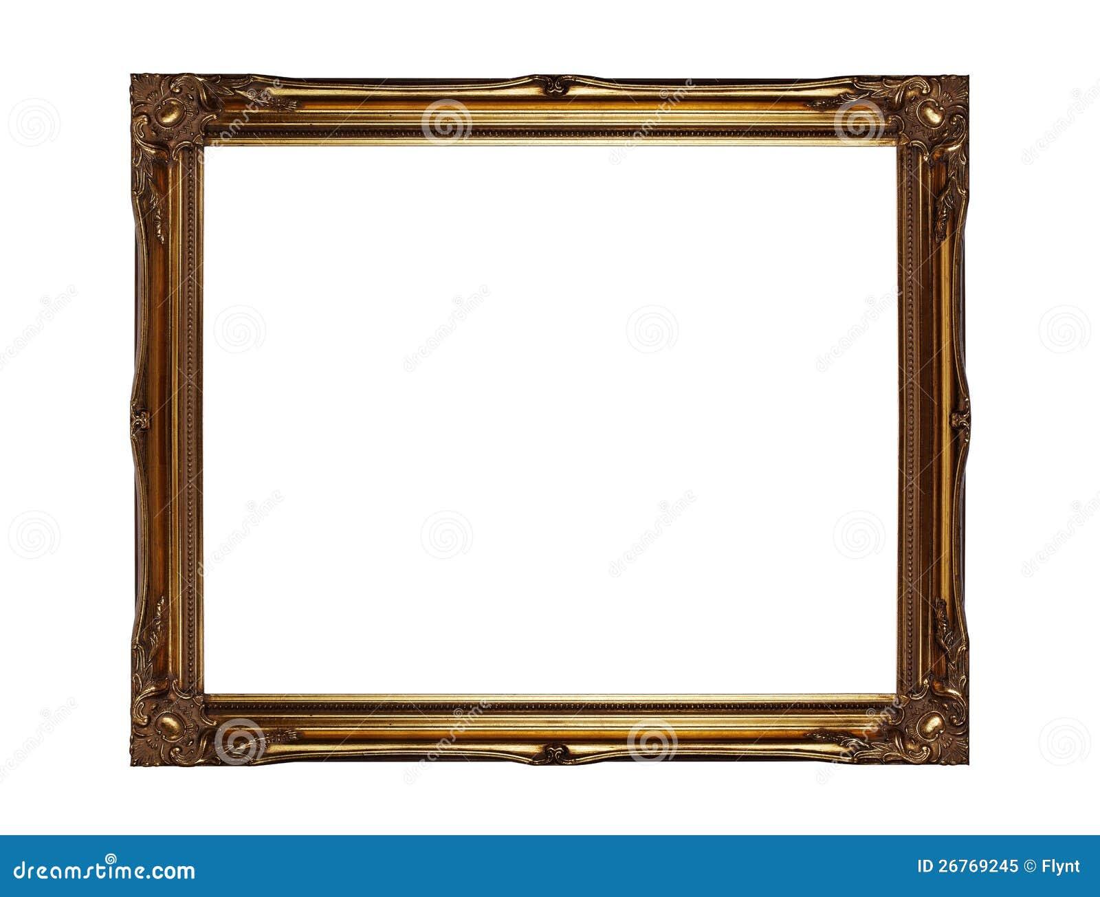 Cadre de tableau d 39 or photo libre de droits image 26769245 - Image de cadre de tableau ...