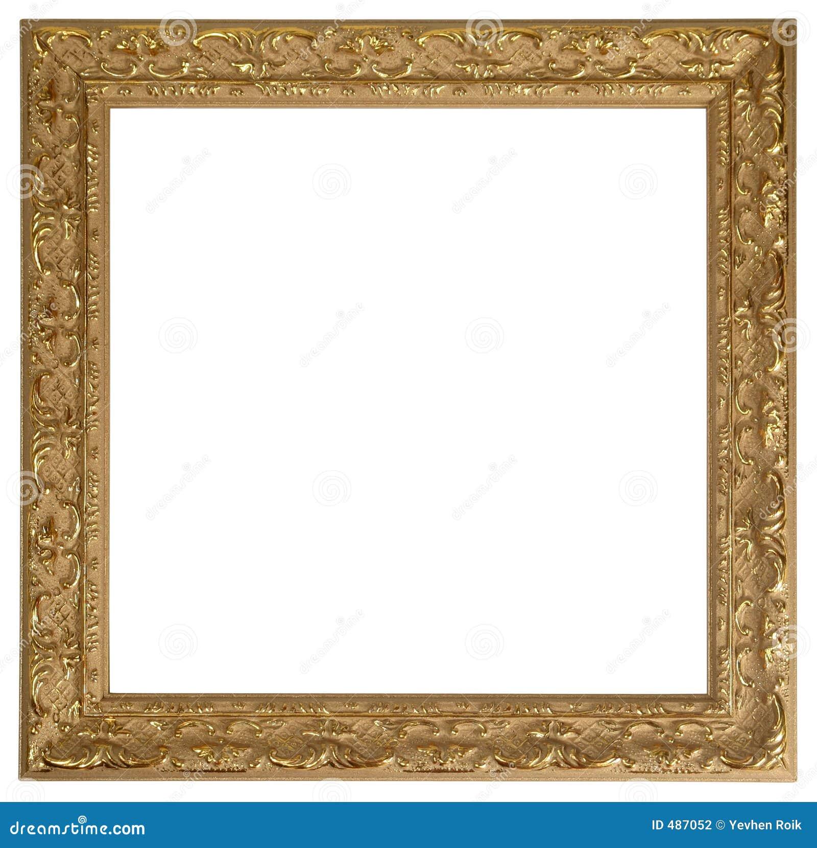 Cadre de tableau d 39 or photographie stock image 487052 for Image de cadre de tableau