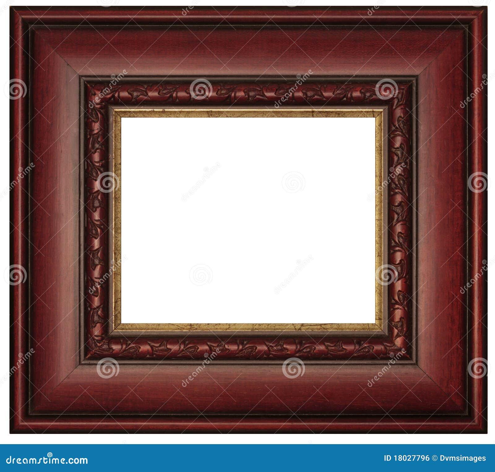Cadre de tableau d 39 acajou image libre de droits image - Image de cadre de tableau ...