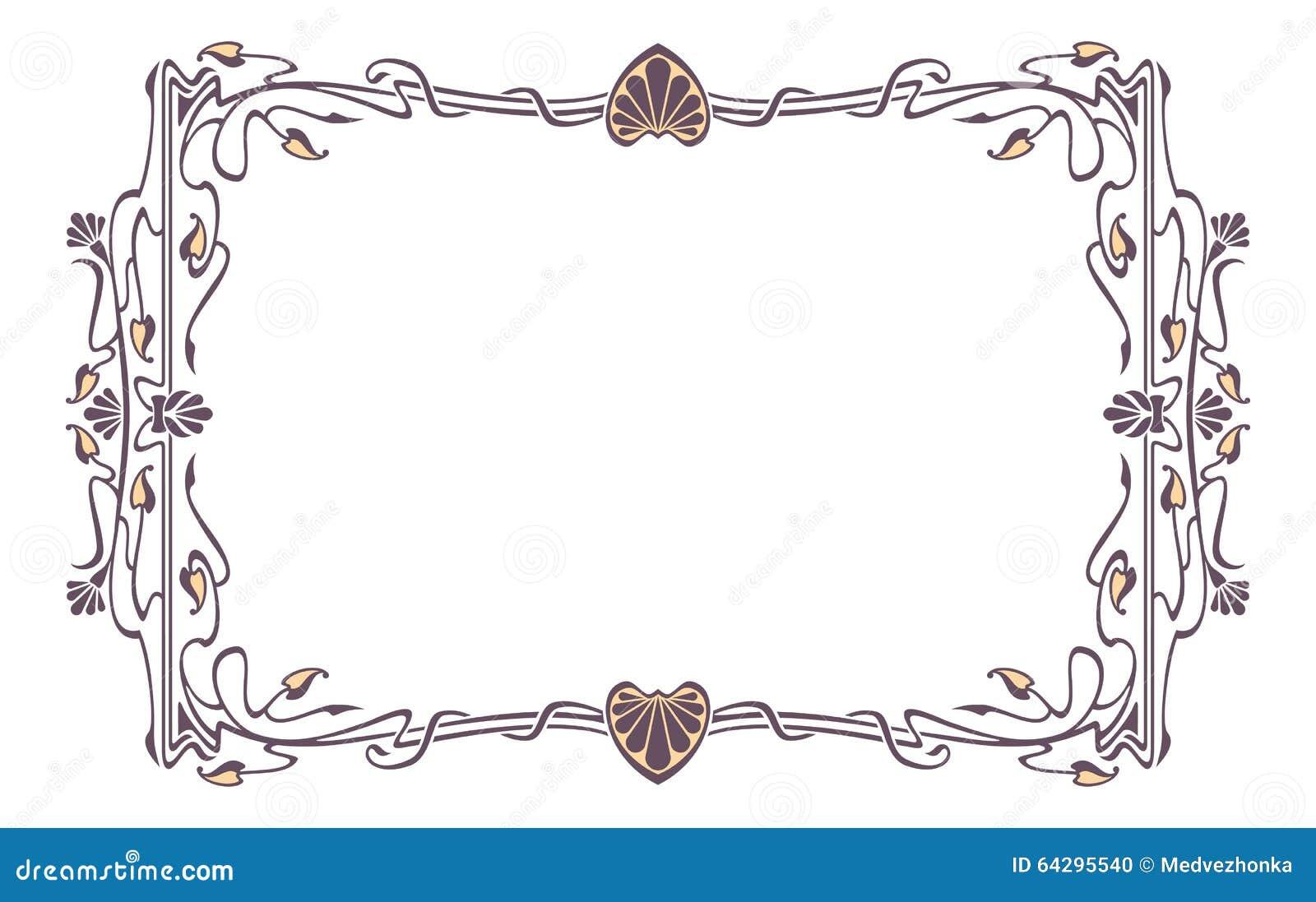 Cadre De Tableau D'Art Nouveau Illustration Stock