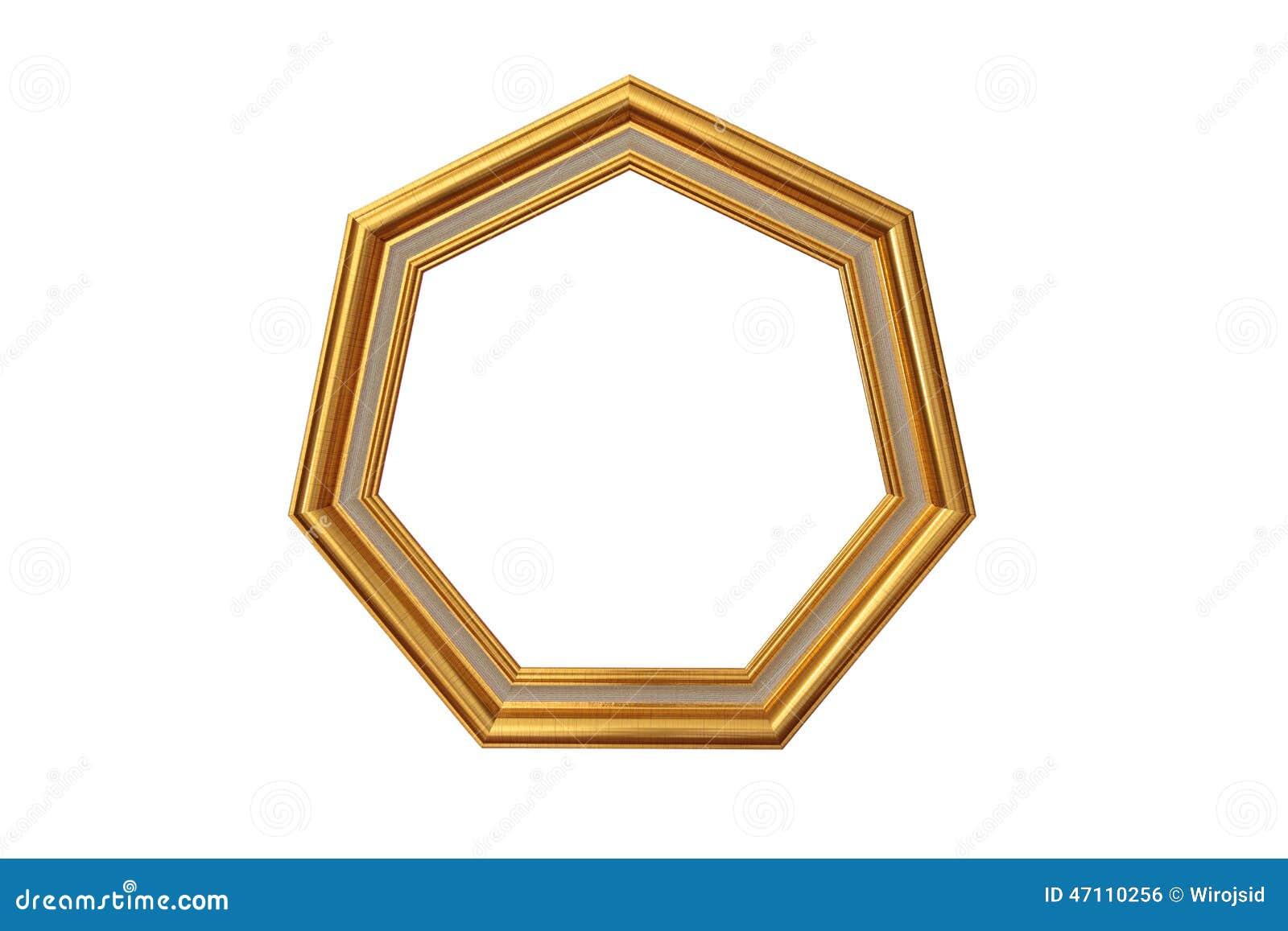 Cadre de tableau d 39 or de heptagone photo stock image - Image de cadre de tableau ...