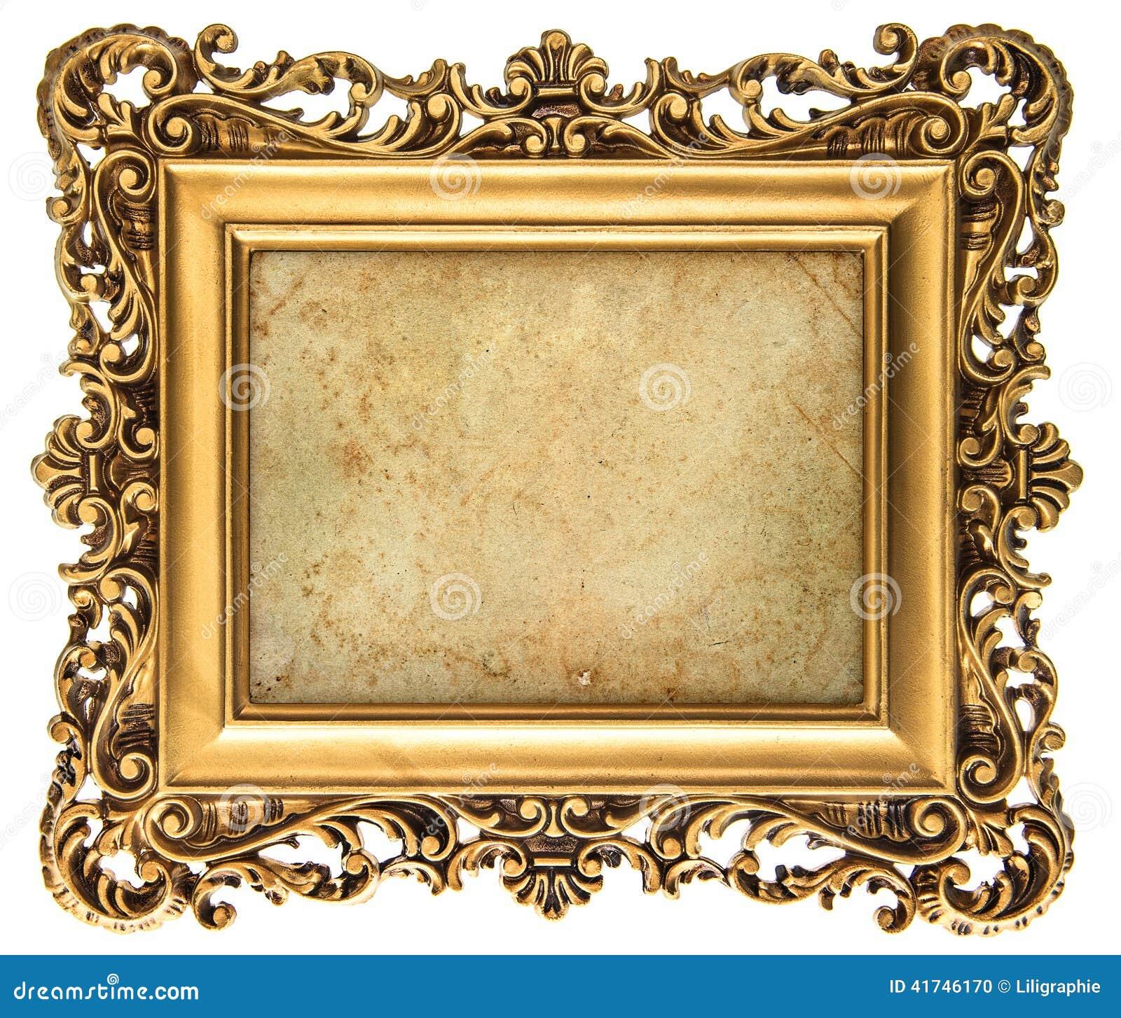 Cadre de tableau d 39 or de style baroque avec la toile photo - Image de cadre de tableau ...