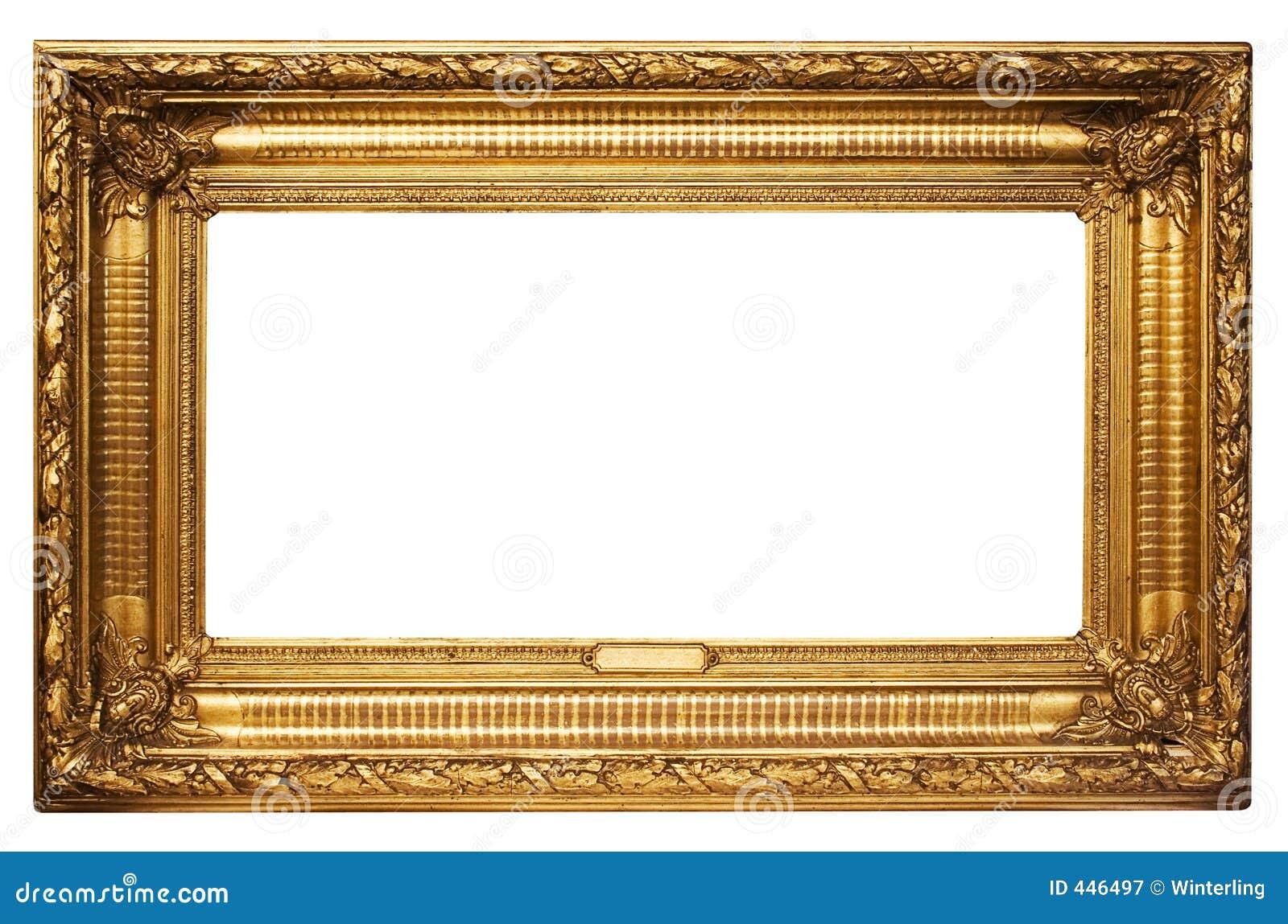 Cadre de tableau d 39 or large avec le chemin photographie - Image de cadre de tableau ...