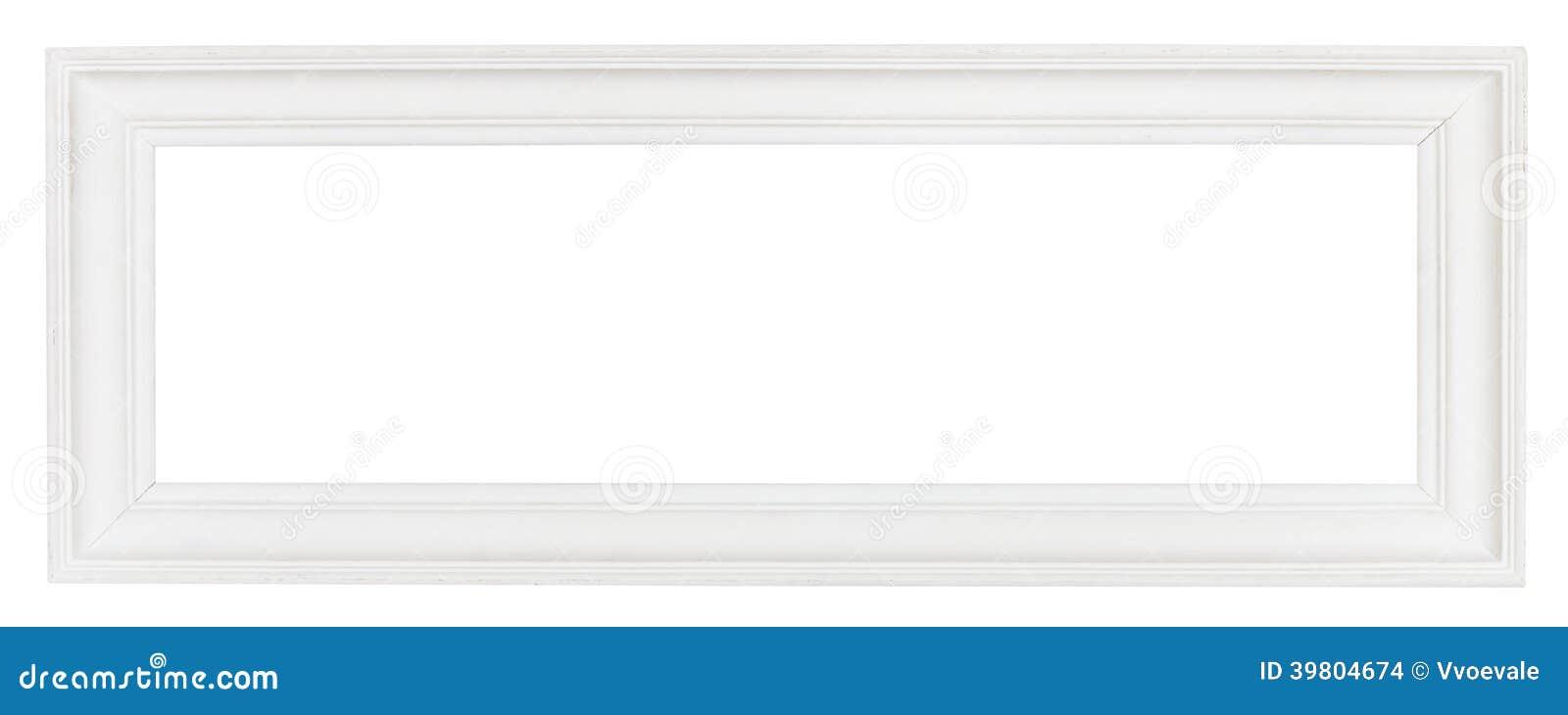 cadre de tableau en bois panoramique blanc large photo stock image 39804674. Black Bedroom Furniture Sets. Home Design Ideas
