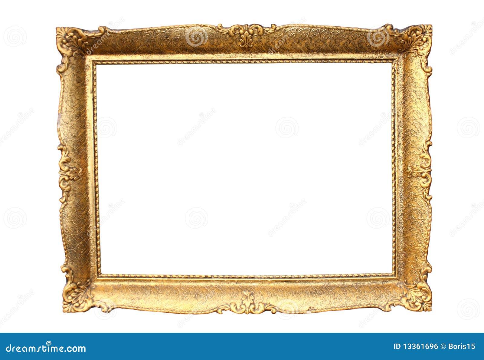 Cadre de tableau en bois plaqu par or image libre de - Image de cadre de tableau ...