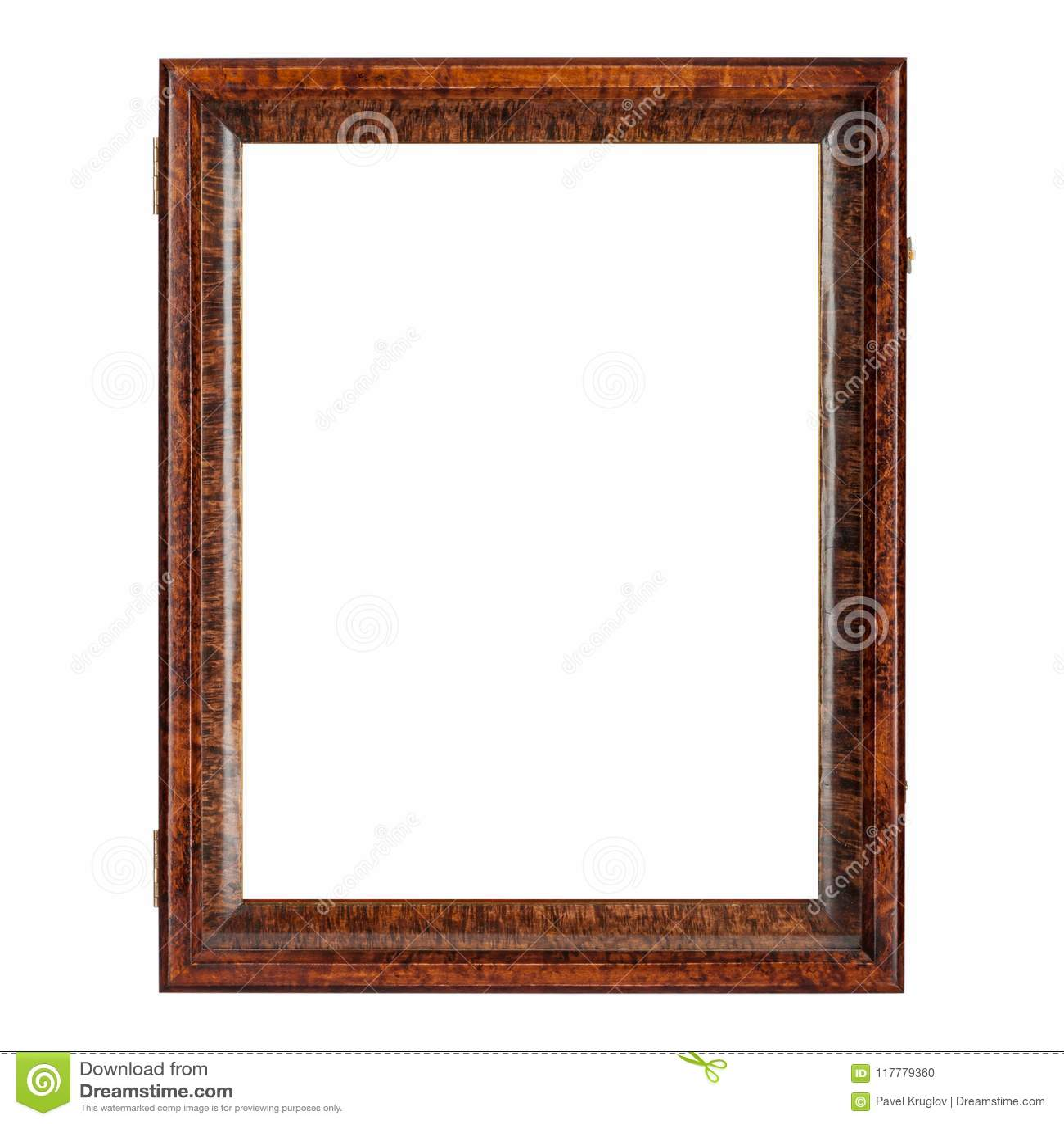 Cadre de tableau en bois vide de couleur naturelle de brun foncé