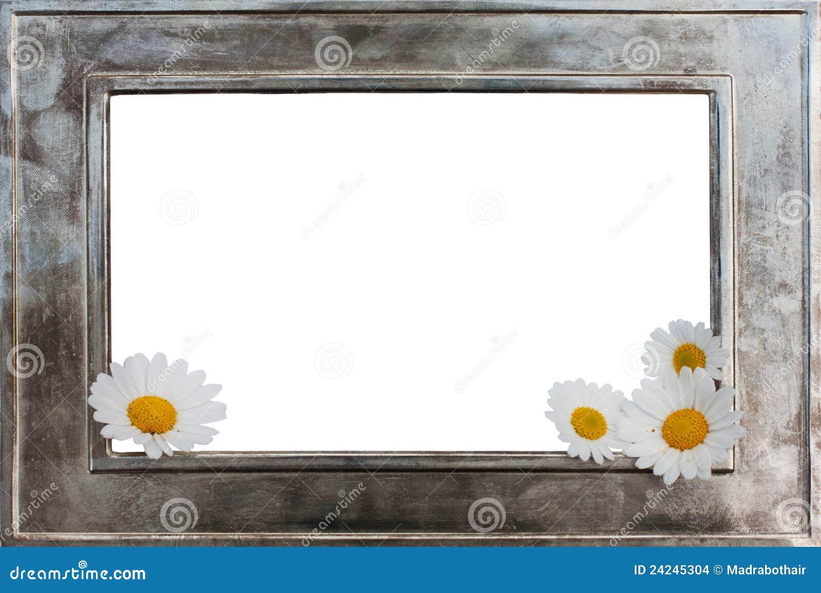 cadre de tableau en m tal avec des fleurs images stock image 24245304. Black Bedroom Furniture Sets. Home Design Ideas