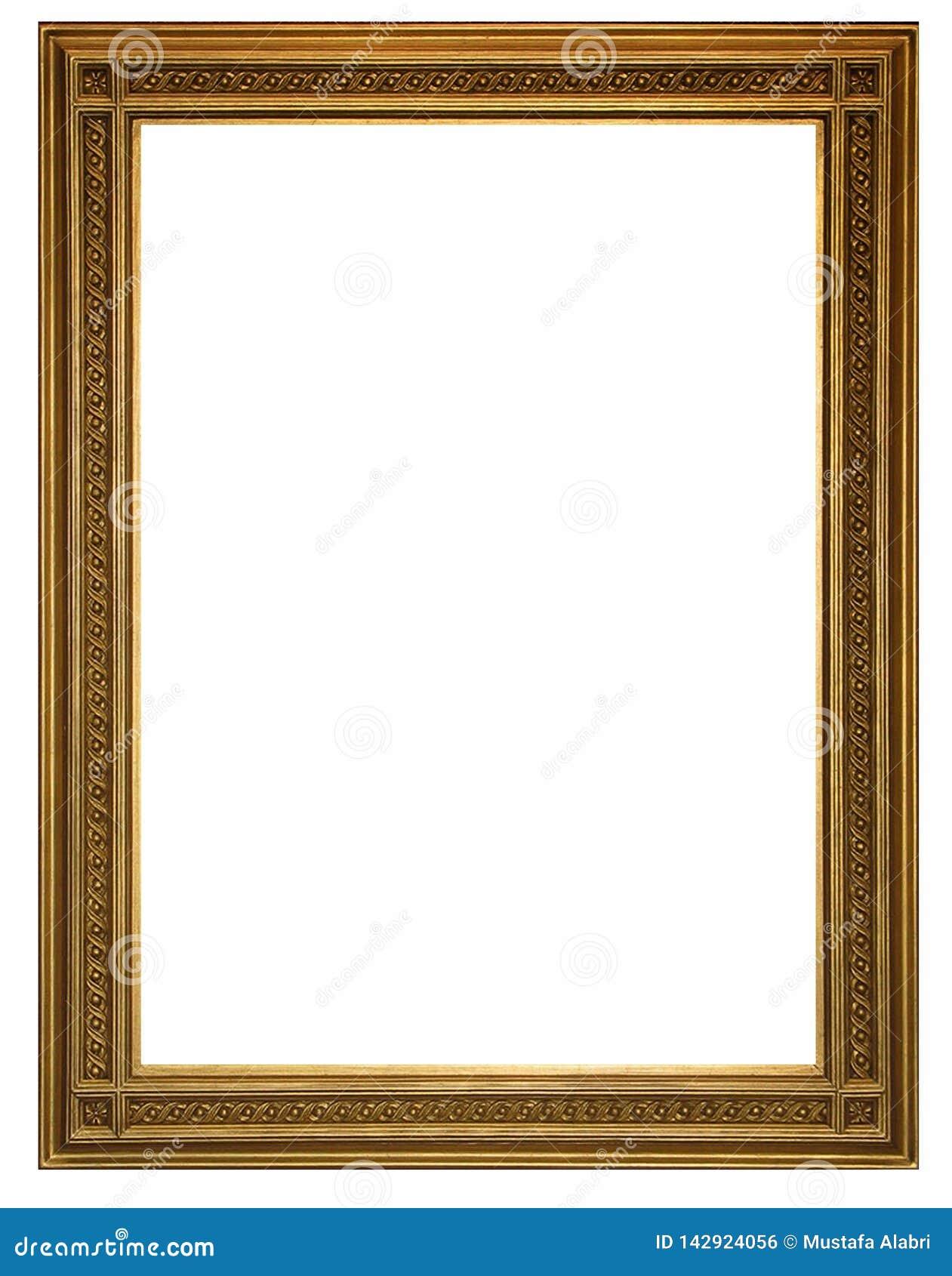 Cadre de tableau et fond blanc