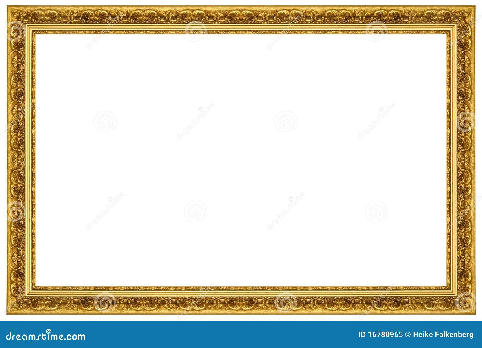 Cadre de tableau fleuri d 39 or photo libre de droits image - Image de cadre de tableau ...