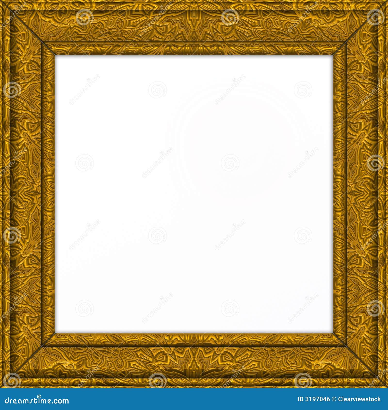 Cadre de tableau fleuri d 39 or image libre de droits image for Image de cadre de tableau