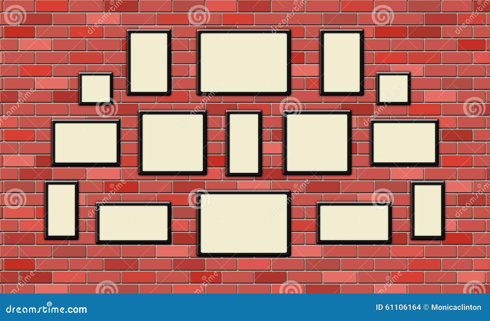 Cadre de tableau noir vide sur le mur de briques - Mur tableau noir ...